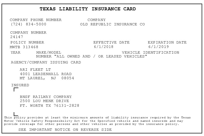 Free insurance card template 03