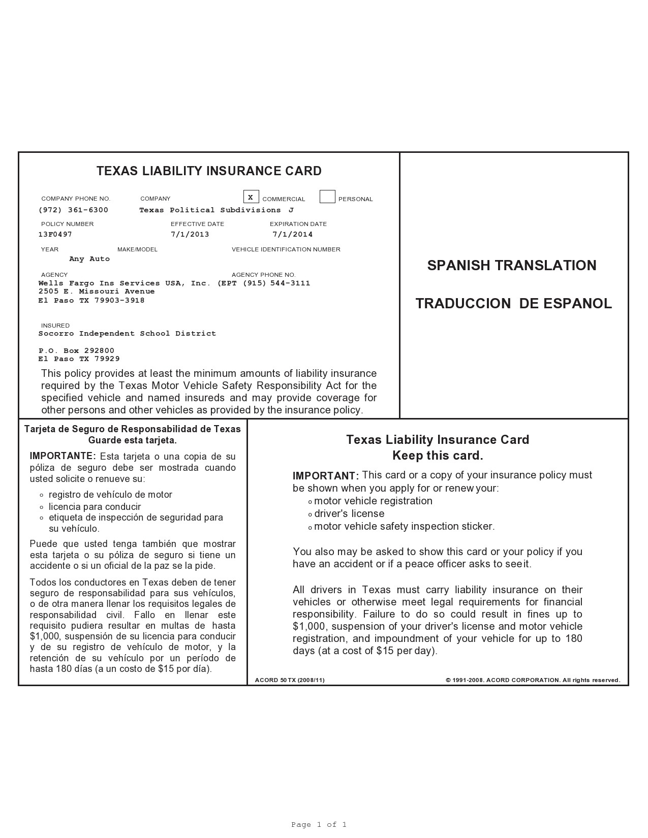 Fake Car Insurance Card In Fake Auto Insurance Card Template Download