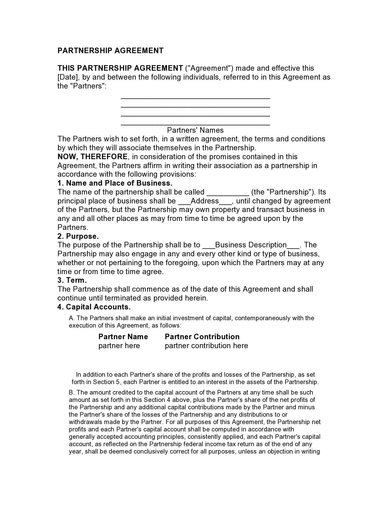 Free limited partnership agreement 12