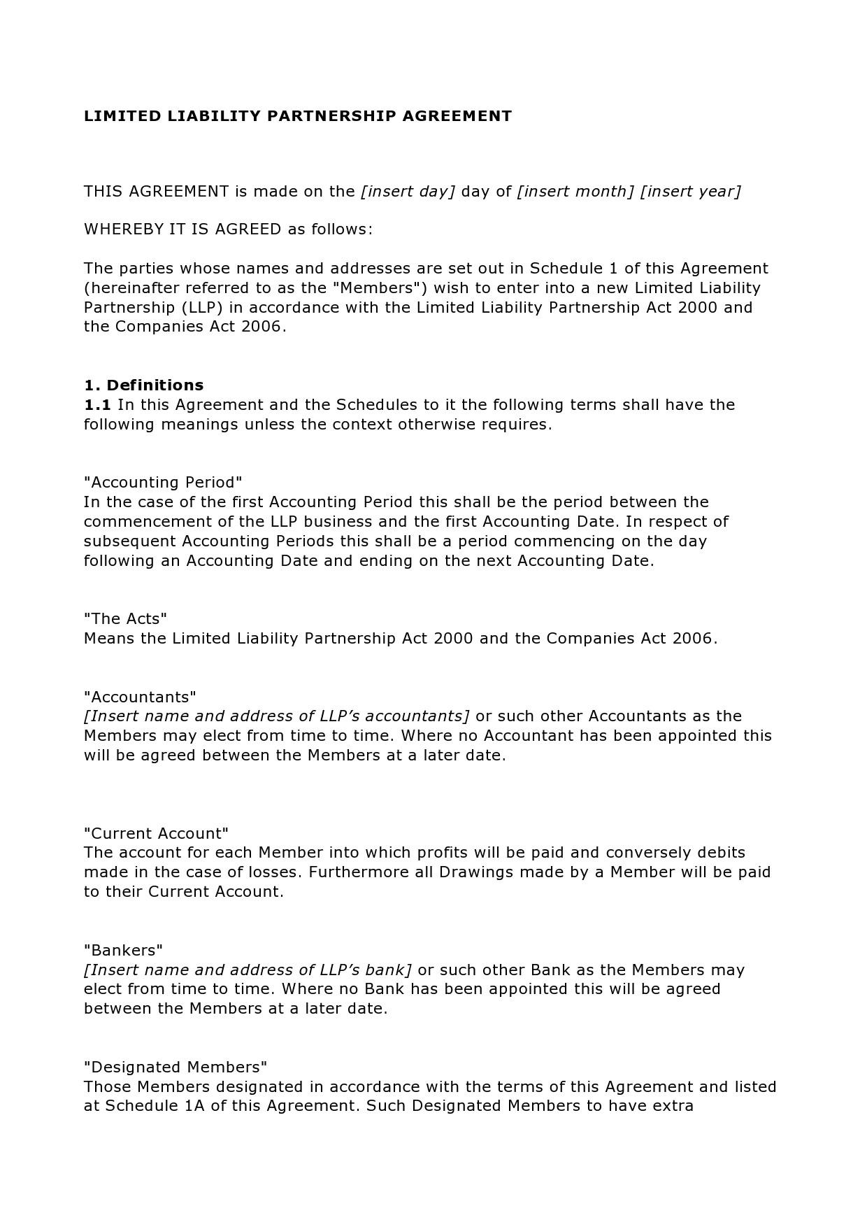 Free limited partnership agreement 18