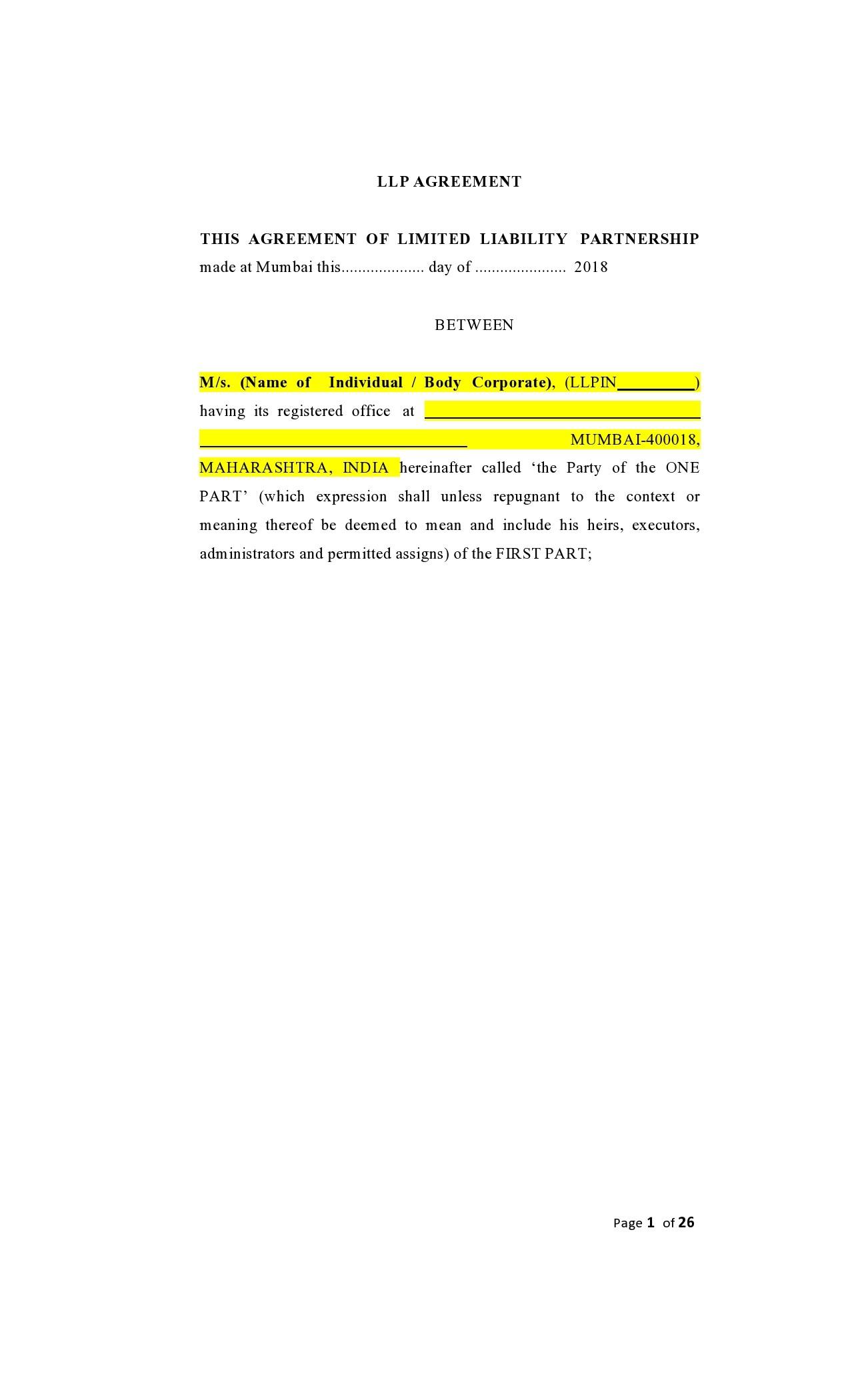 Free limited partnership agreement 19