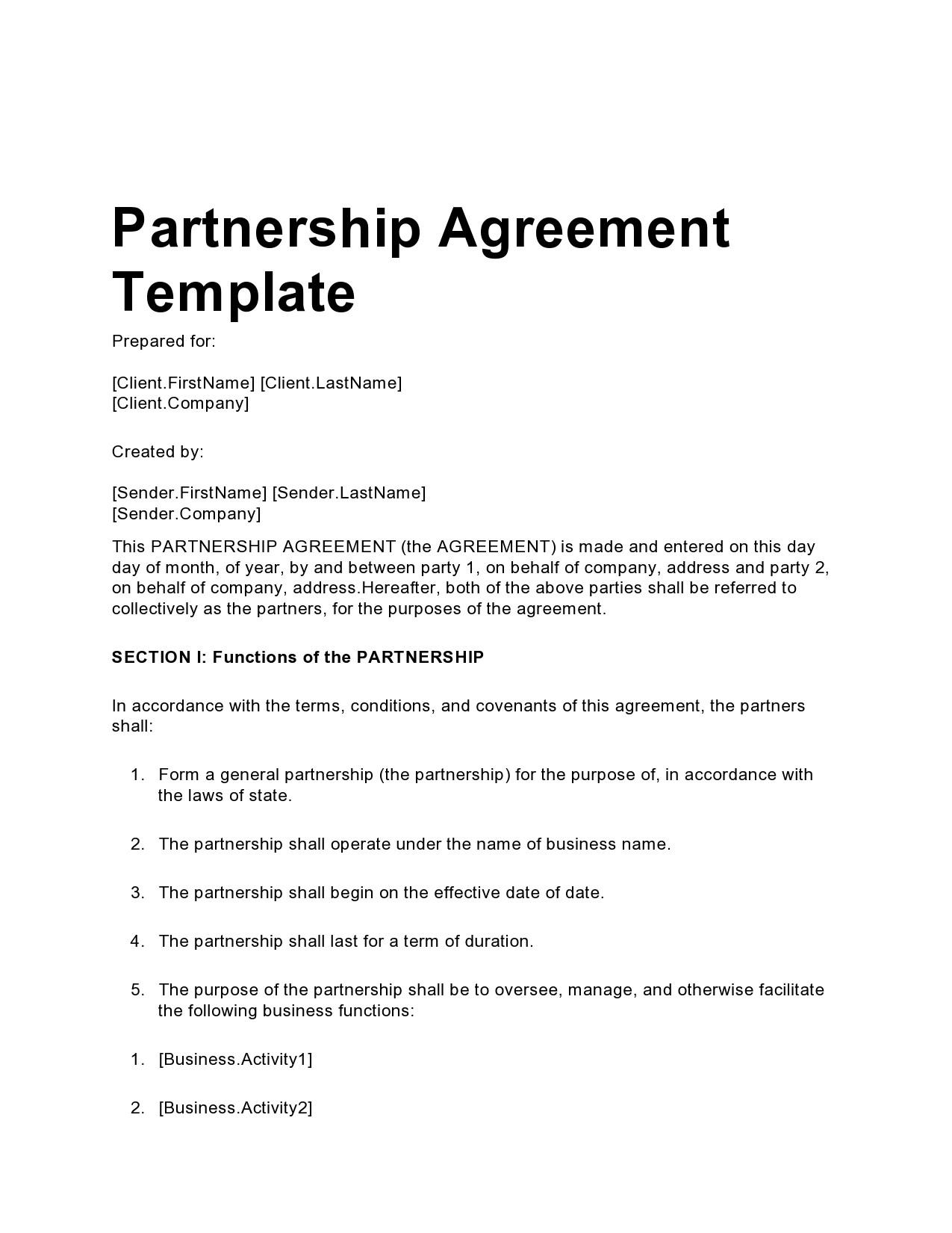 Free limited partnership agreement 21