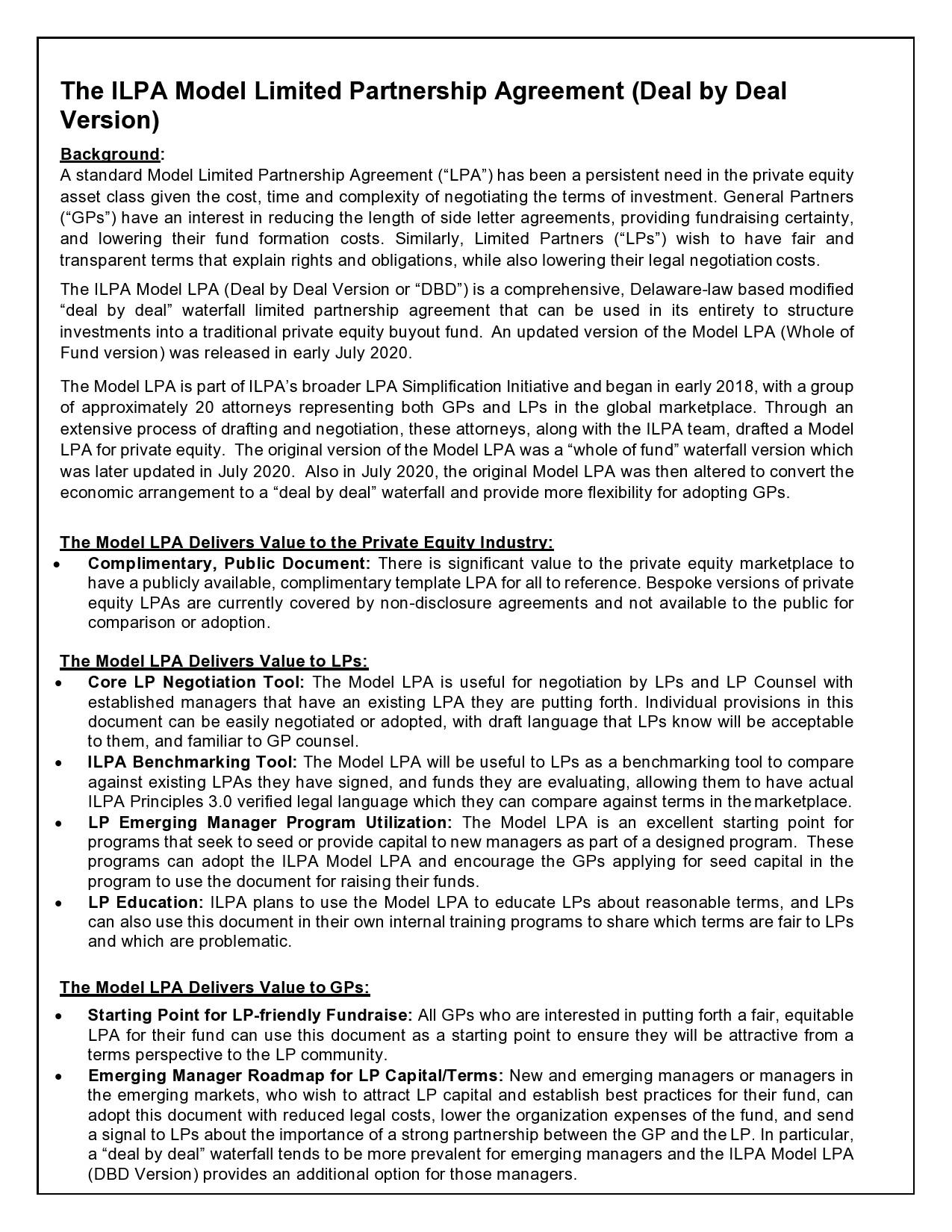 Free limited partnership agreement 23
