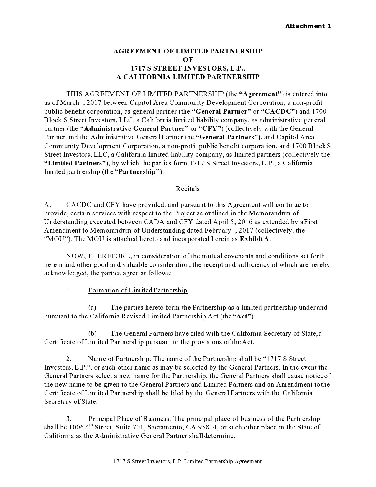 Free limited partnership agreement 32