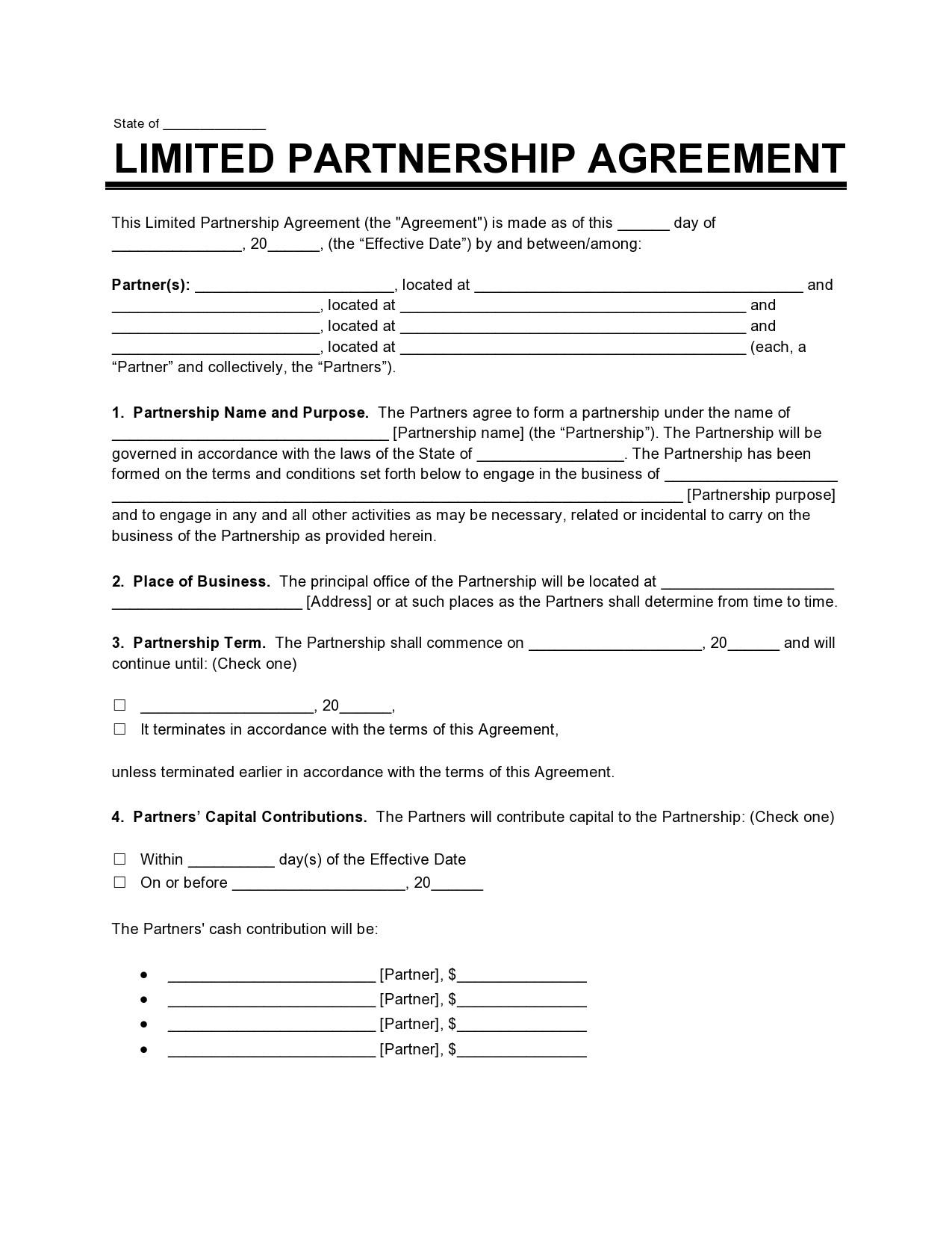 Free limited partnership agreement 35