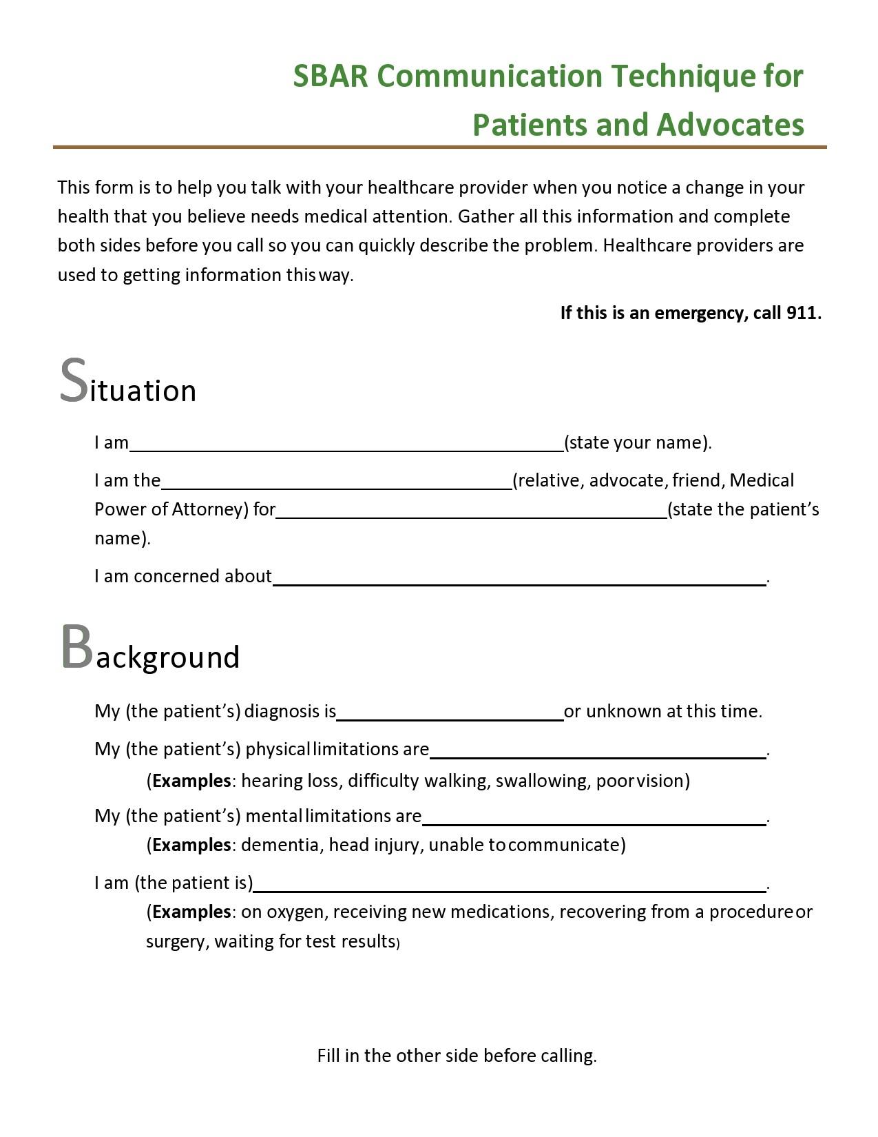 Free sbar template 17