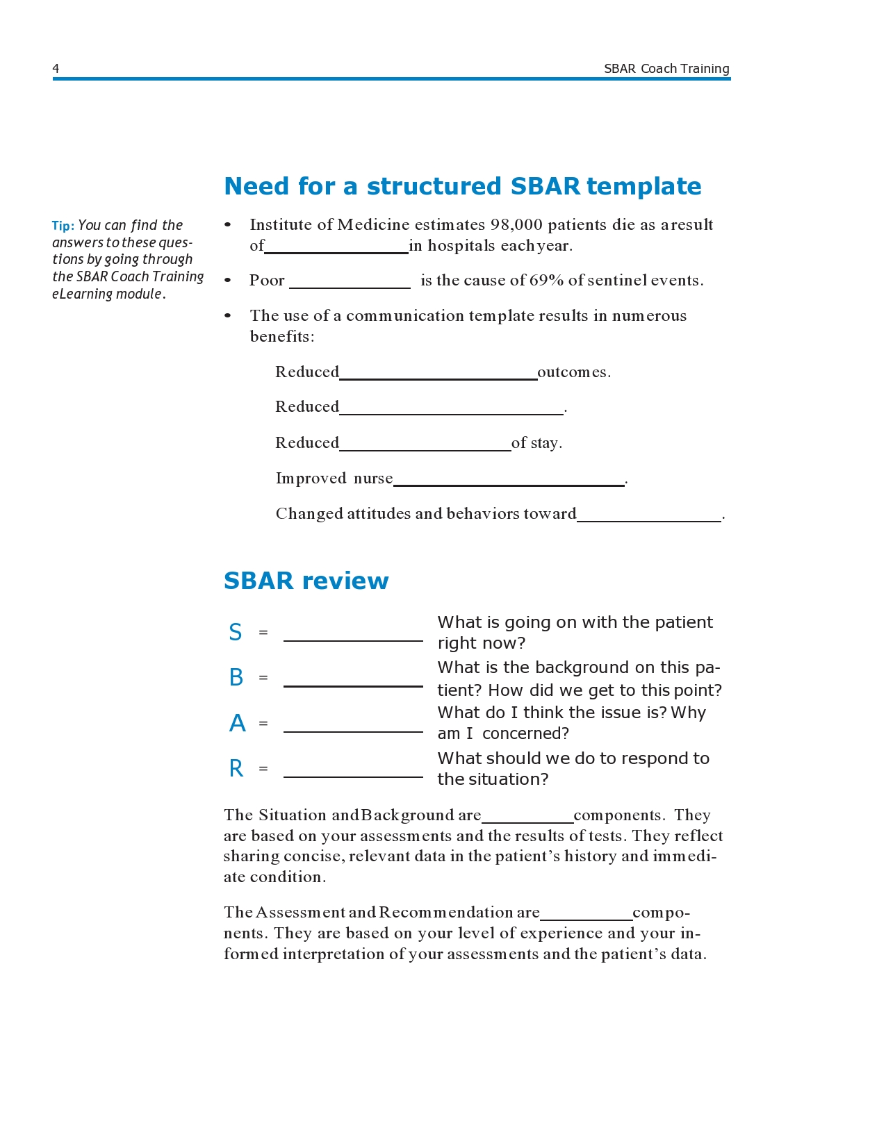 Free sbar template 19