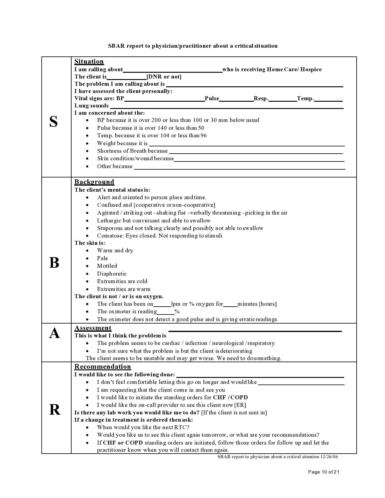 Free sbar template 40