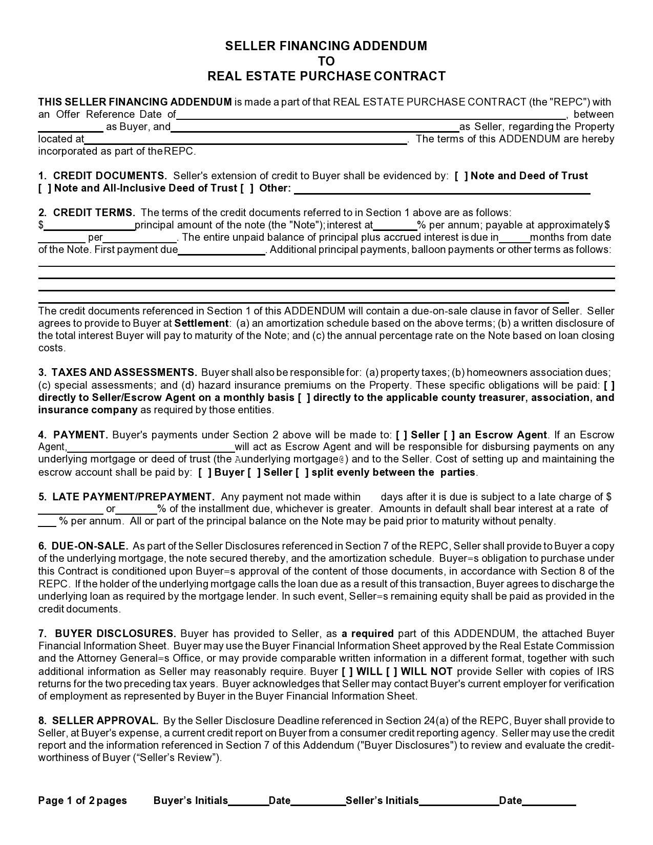 Free seller financing addendum 02