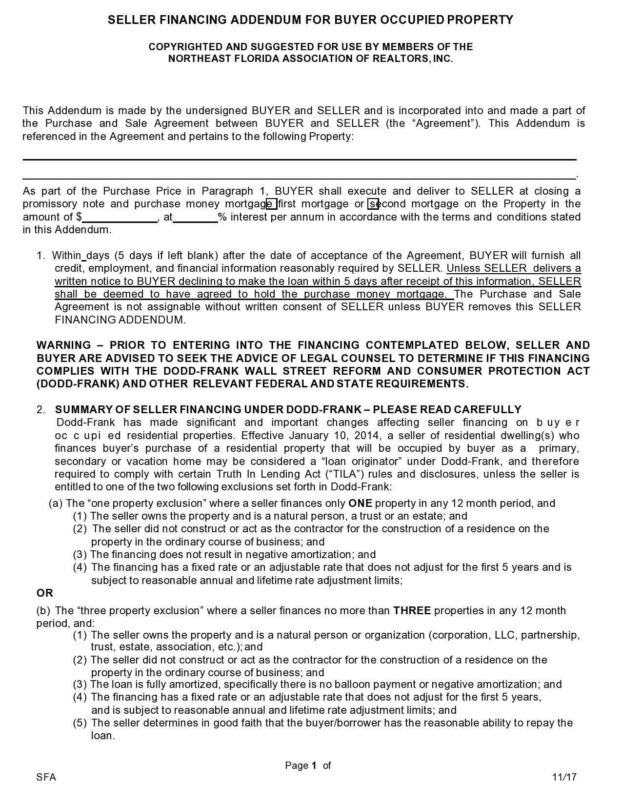 Free seller financing addendum 03