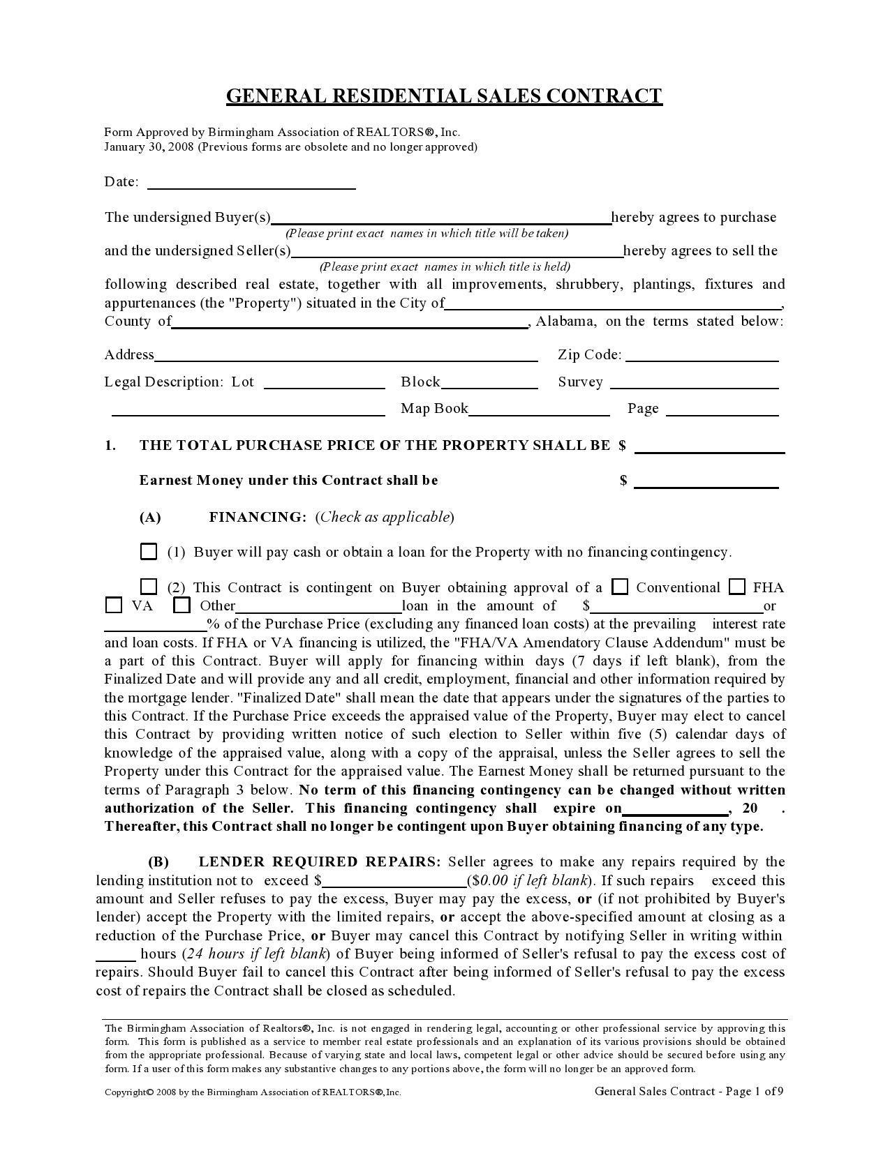 Free seller financing addendum 27