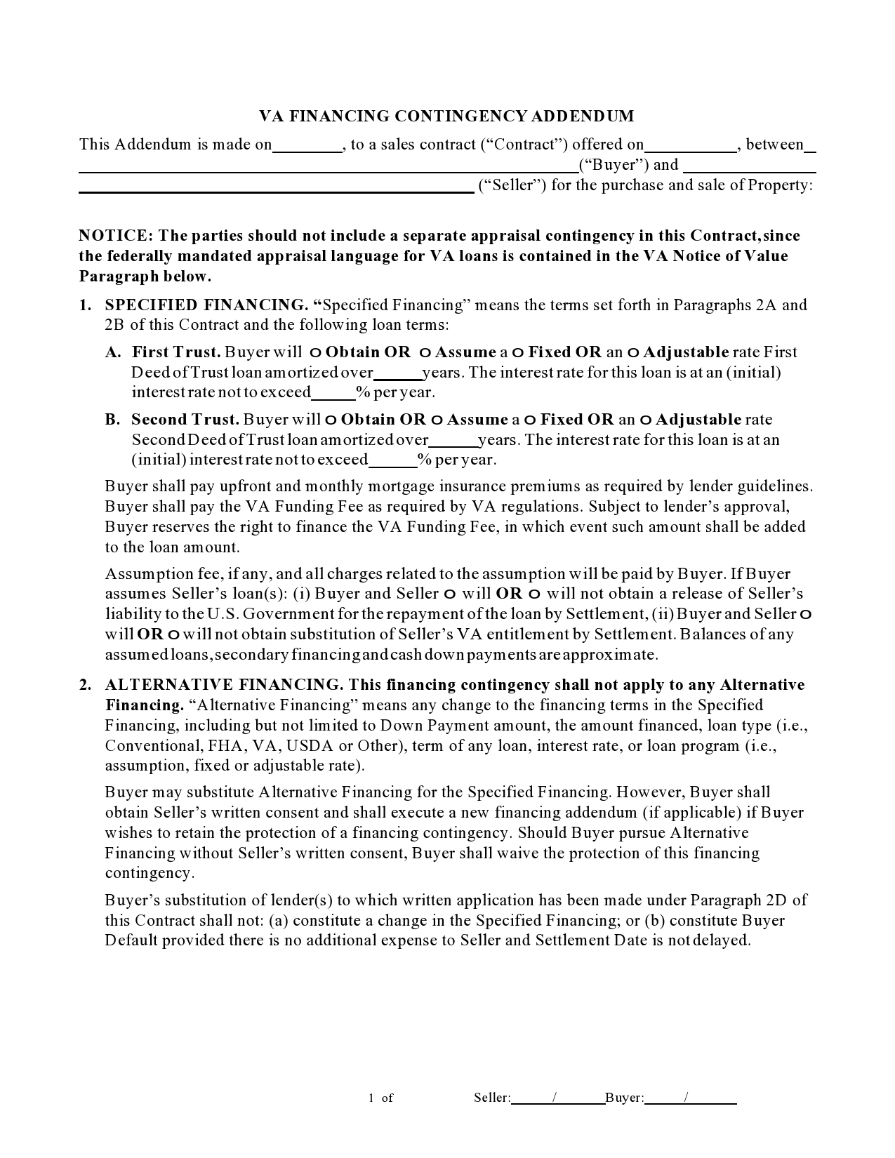 Free seller financing addendum 31