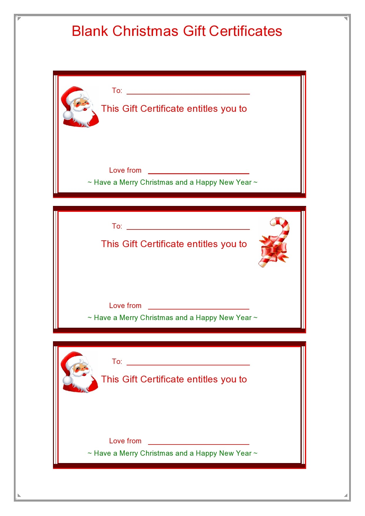 Free christmas gift certificate template 01