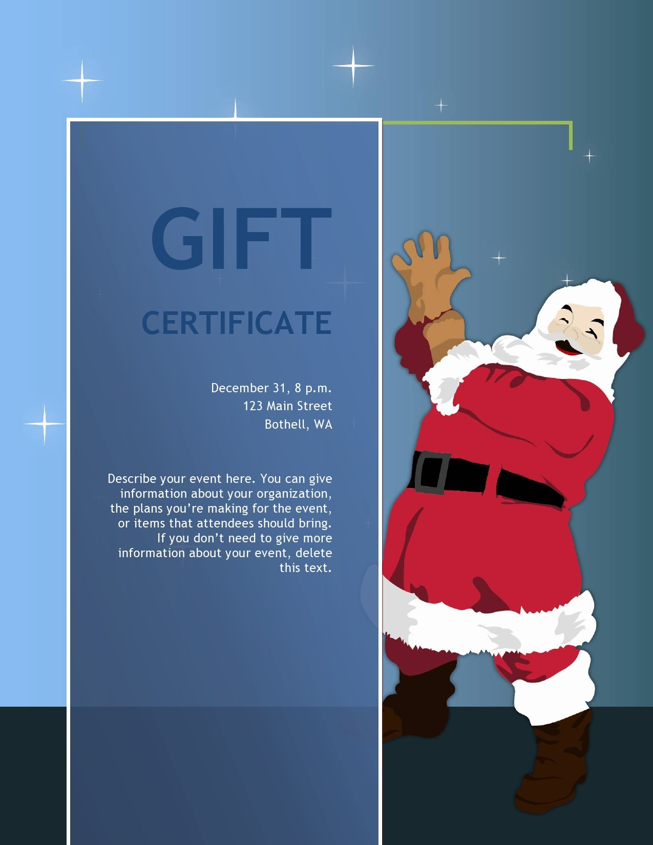 Free christmas gift certificate template 02