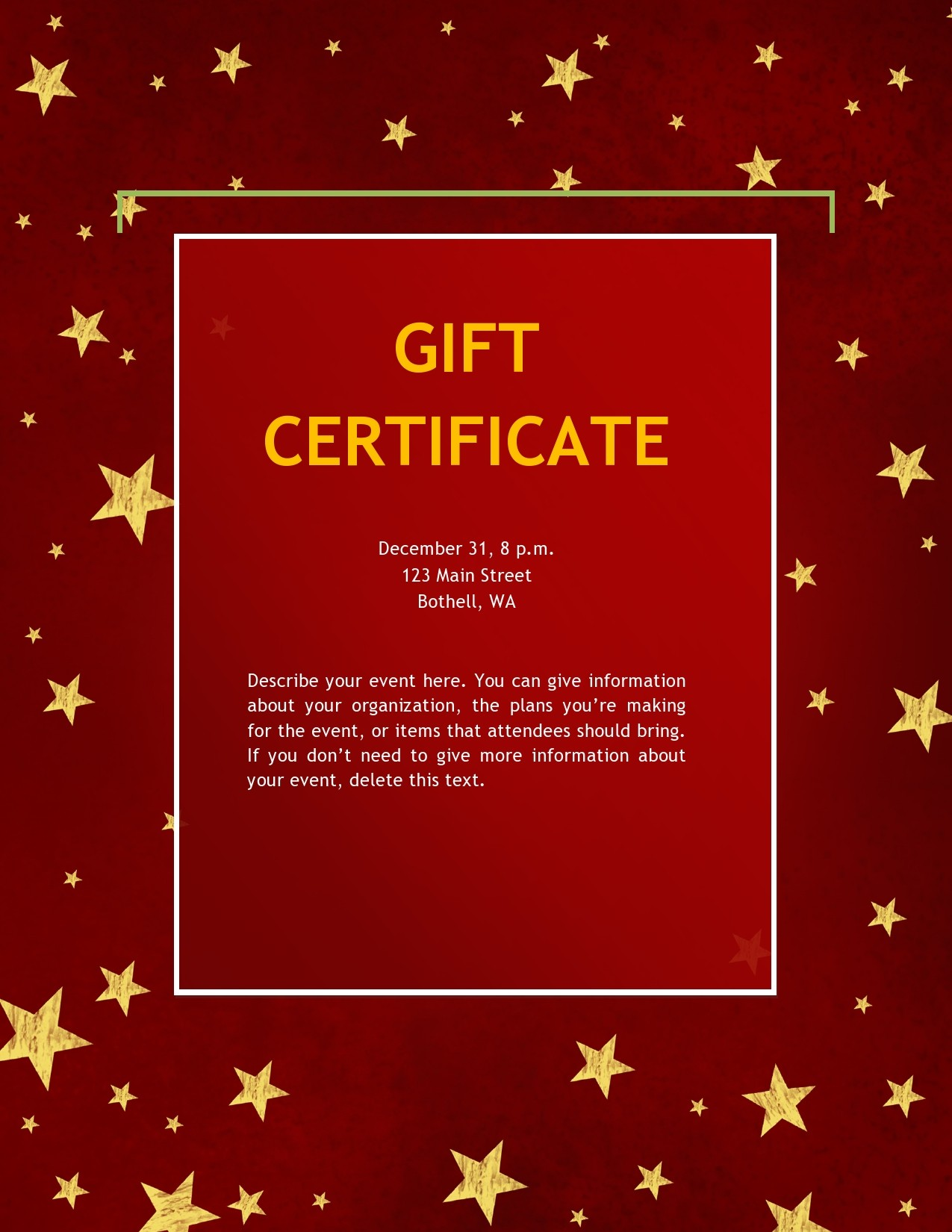 Free christmas gift certificate template 05