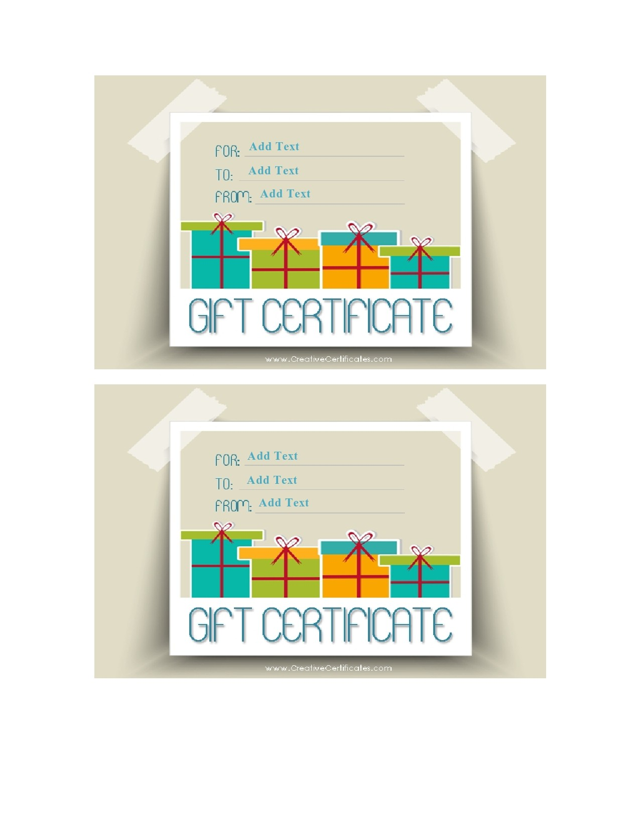 Free christmas gift certificate template 06
