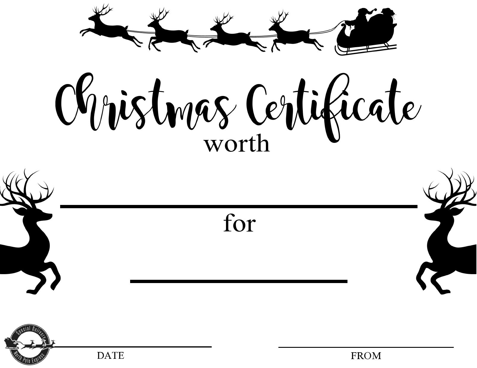 Free christmas gift certificate template 07