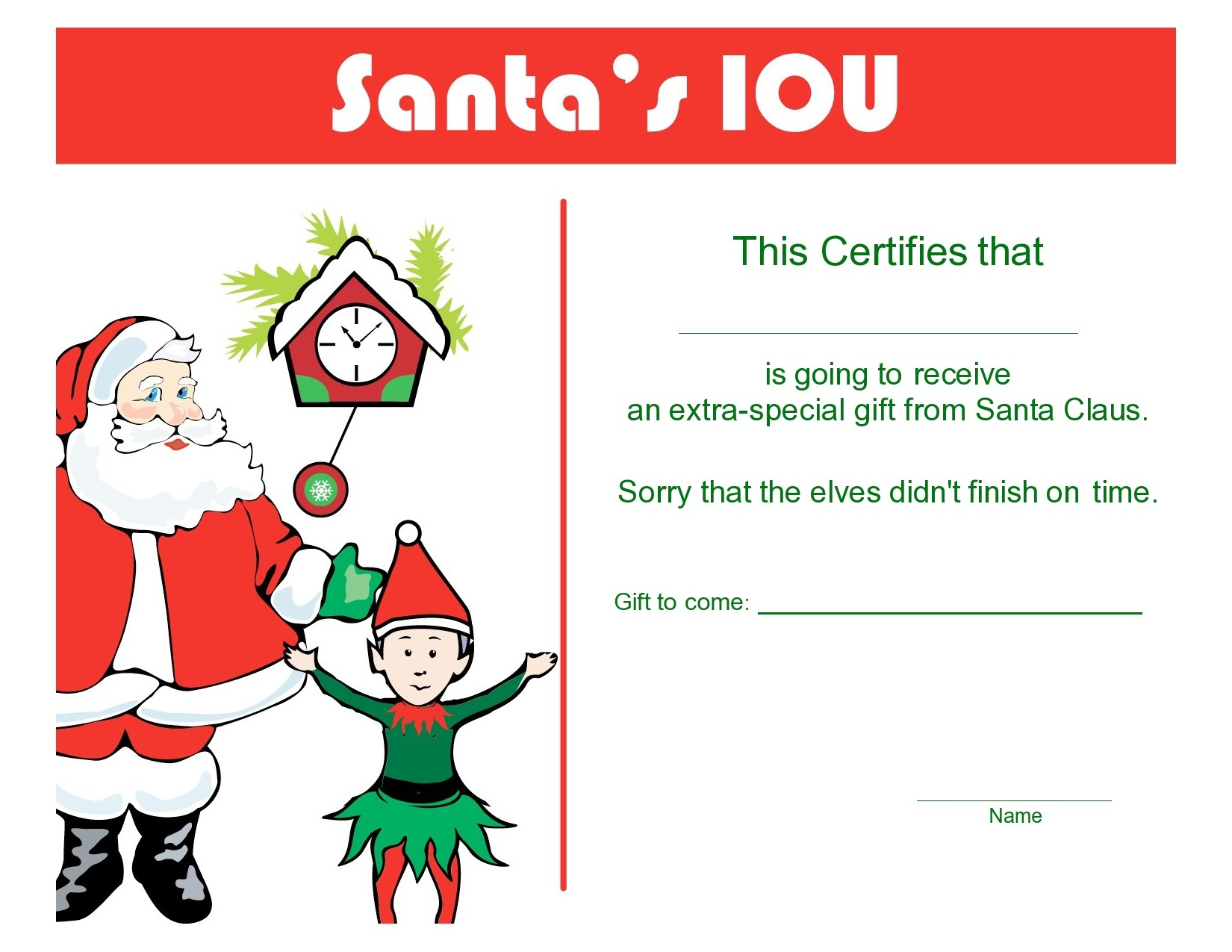 Free christmas gift certificate template 08