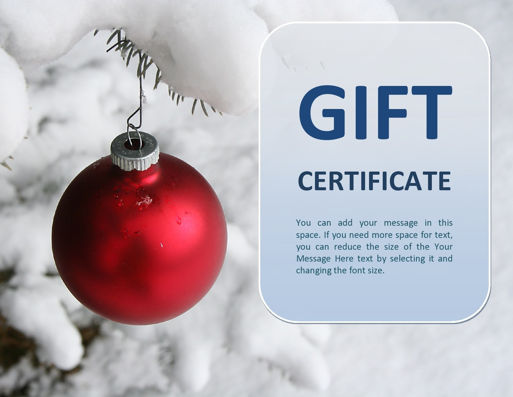 Free christmas gift certificate template 10