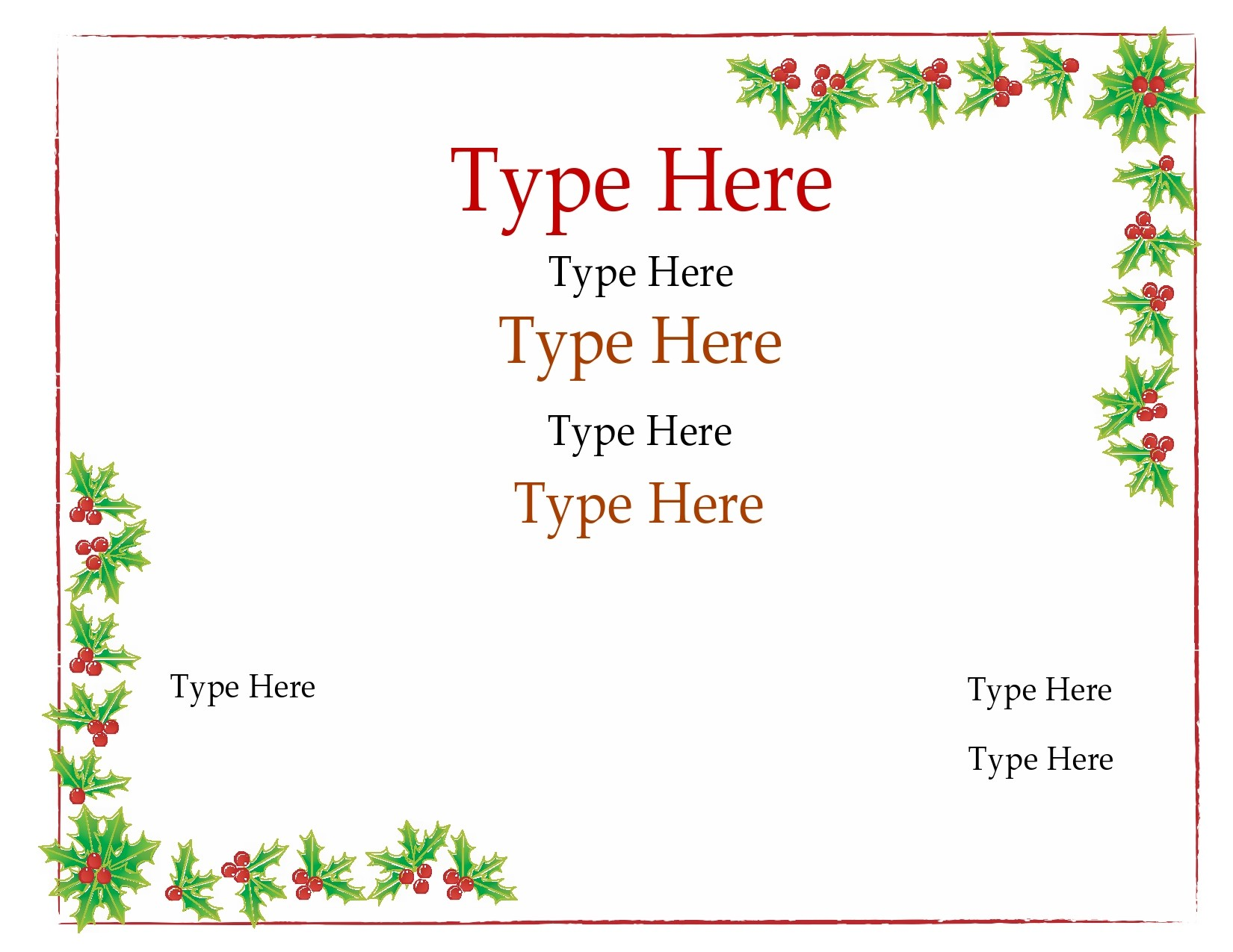 Free christmas gift certificate template 12