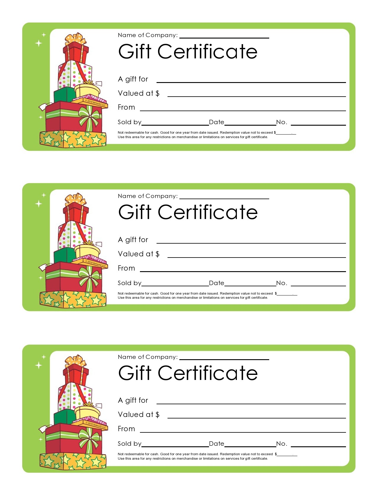 Free christmas gift certificate template 17