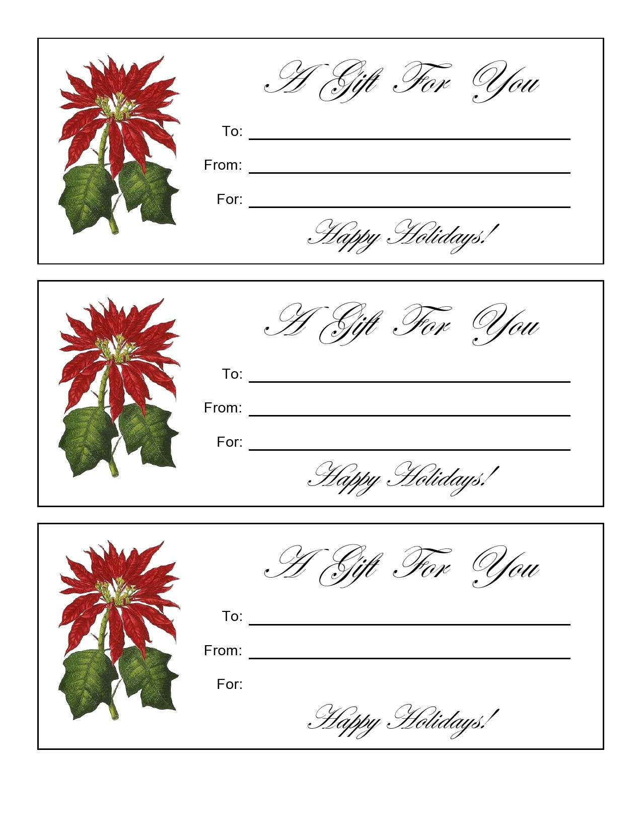 Free christmas gift certificate template 18
