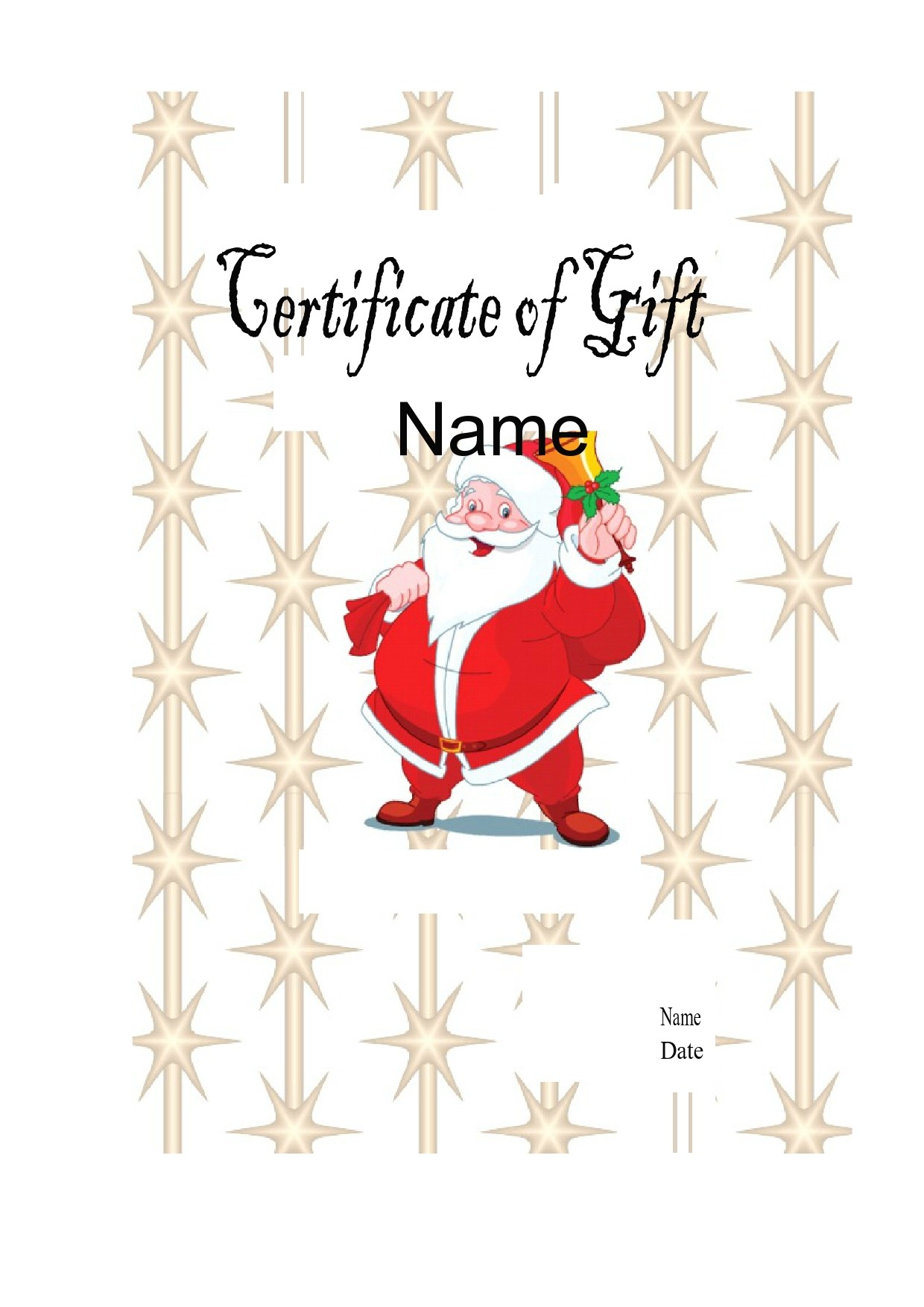 Free christmas gift certificate template 19