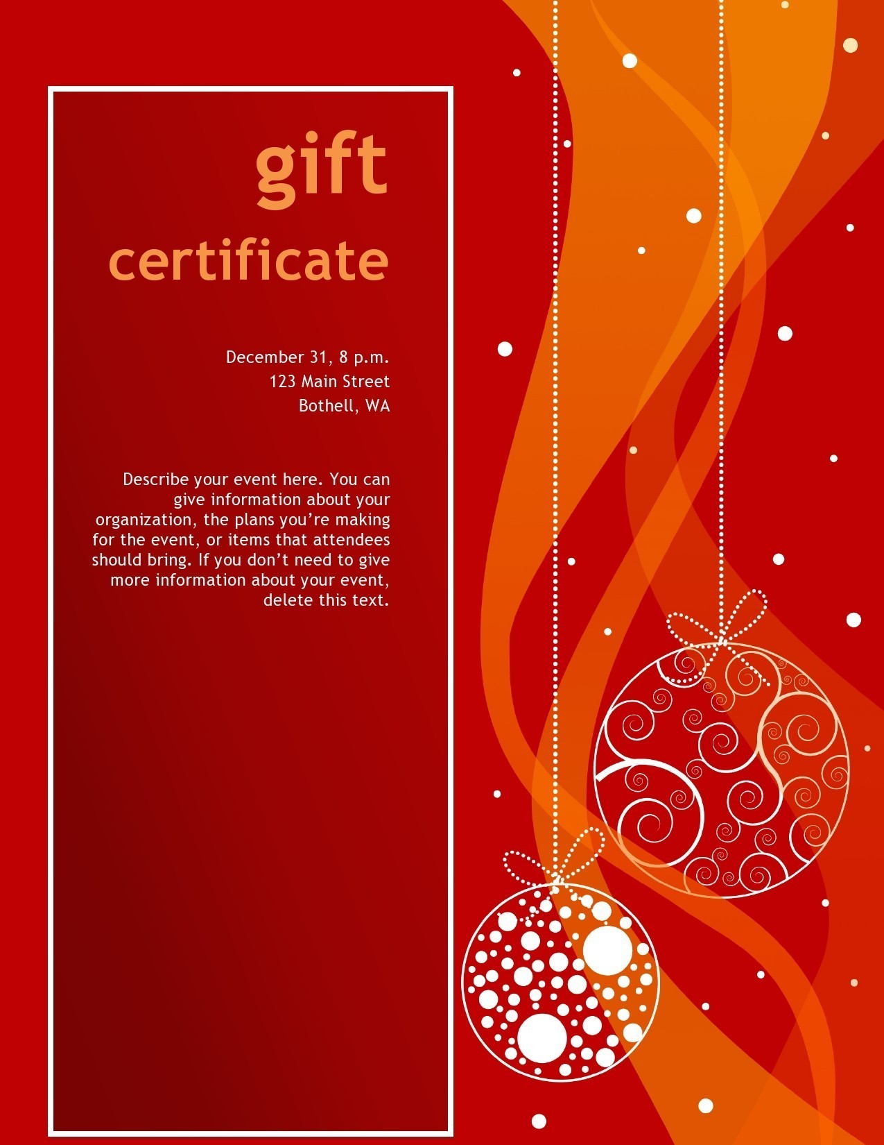 Free christmas gift certificate template 23