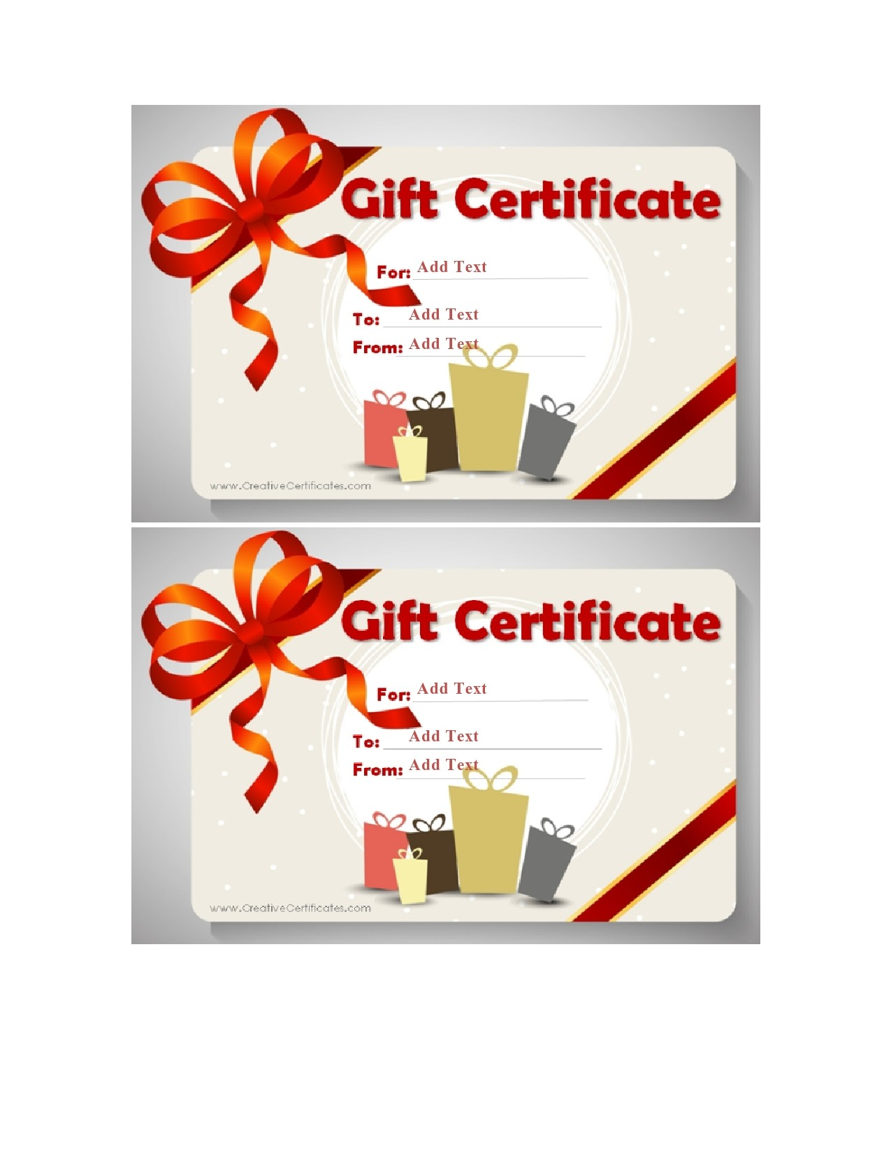 Free christmas gift certificate template 24