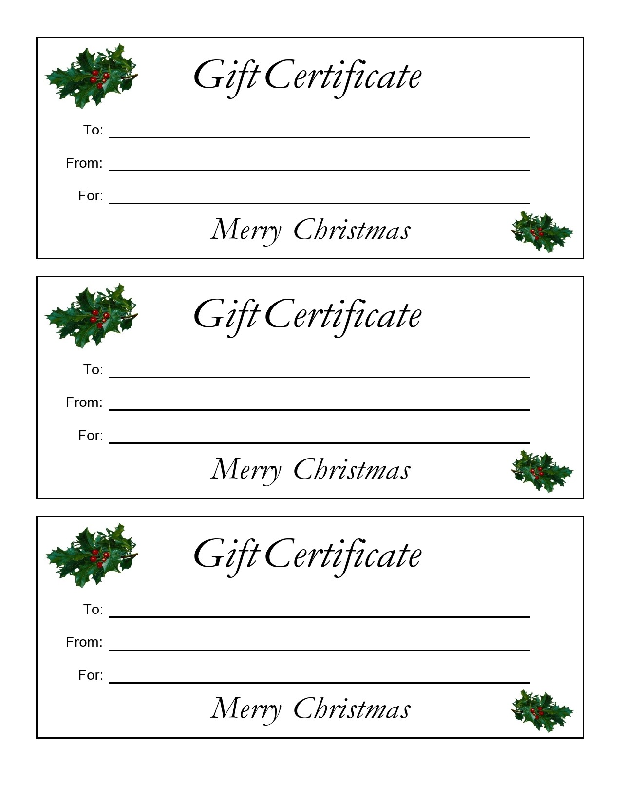Free christmas gift certificate template 26
