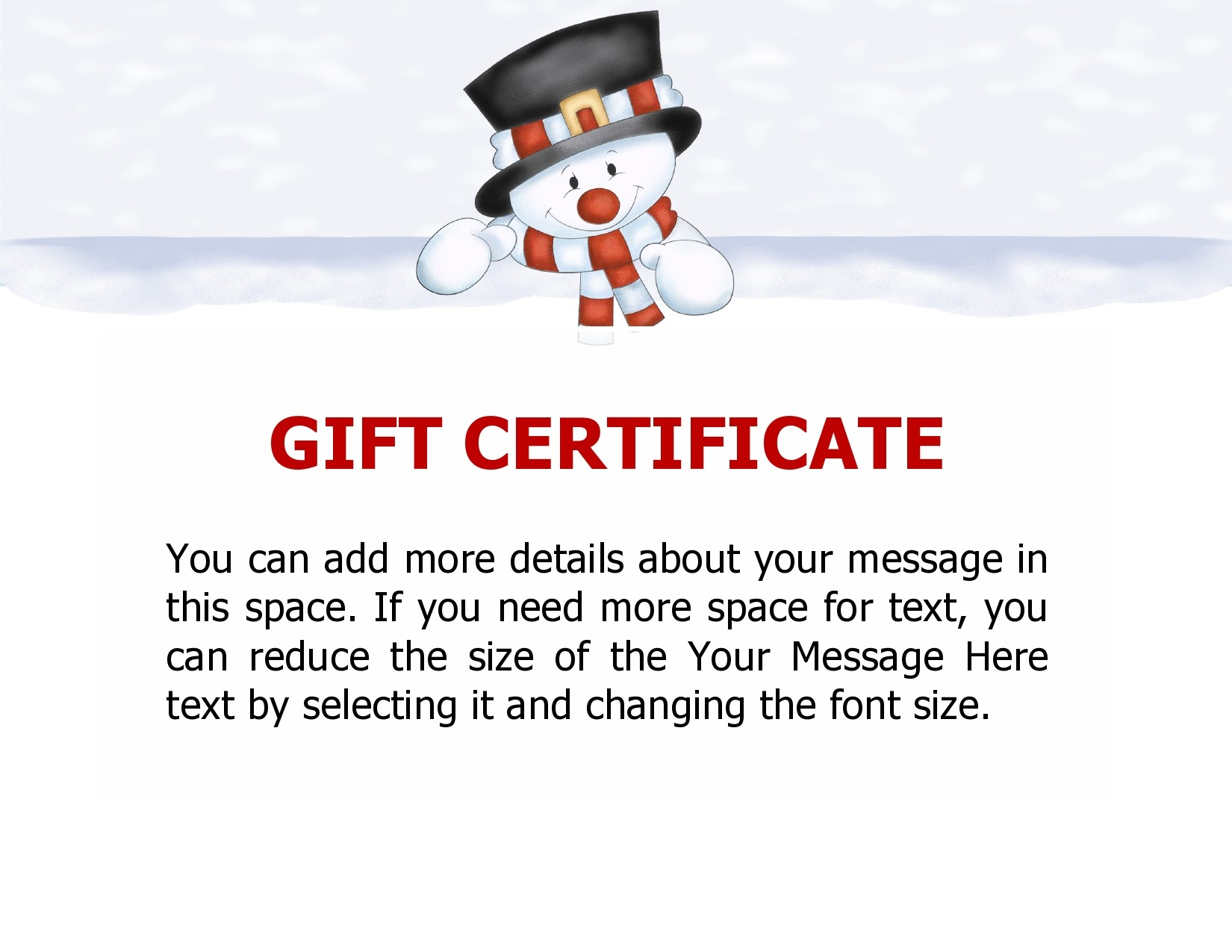 Free christmas gift certificate template 27