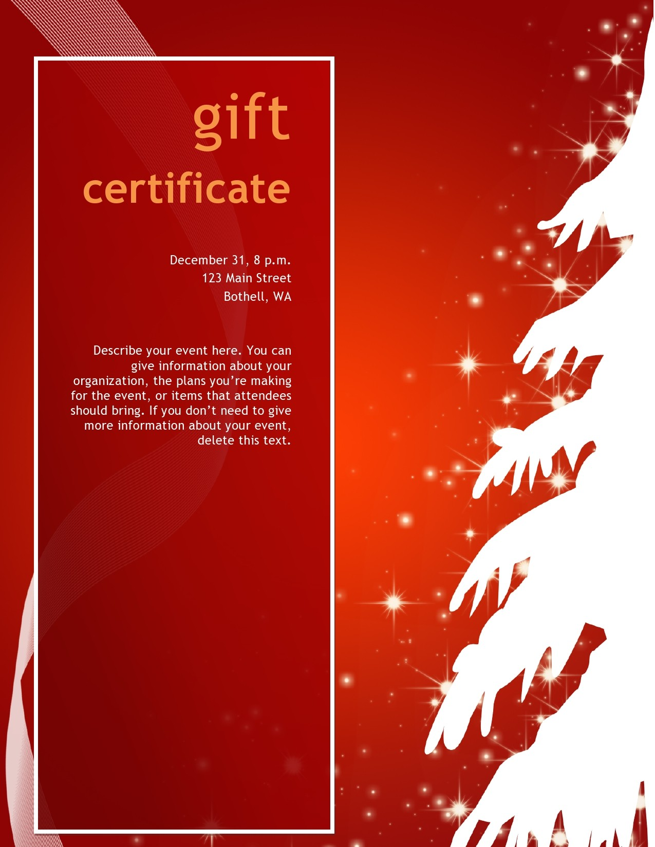 Free christmas gift certificate template 28