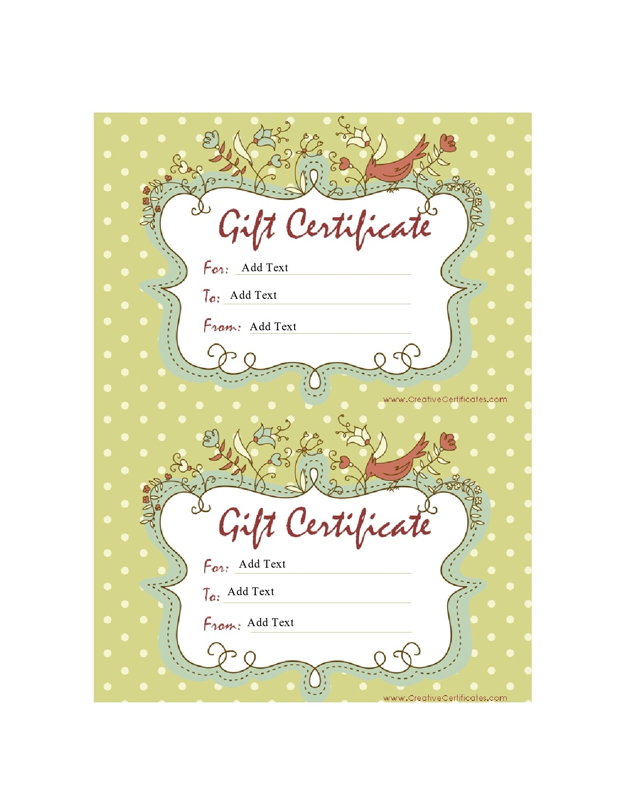 Free christmas gift certificate template 29