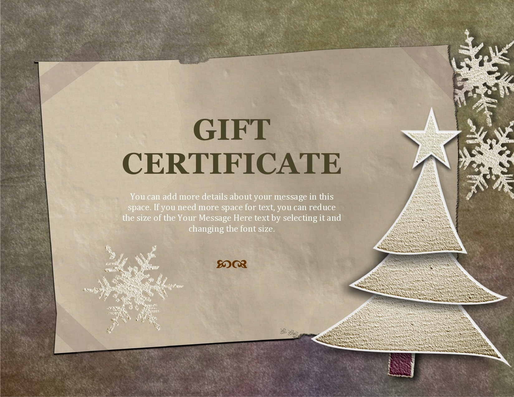 Free christmas gift certificate template 30