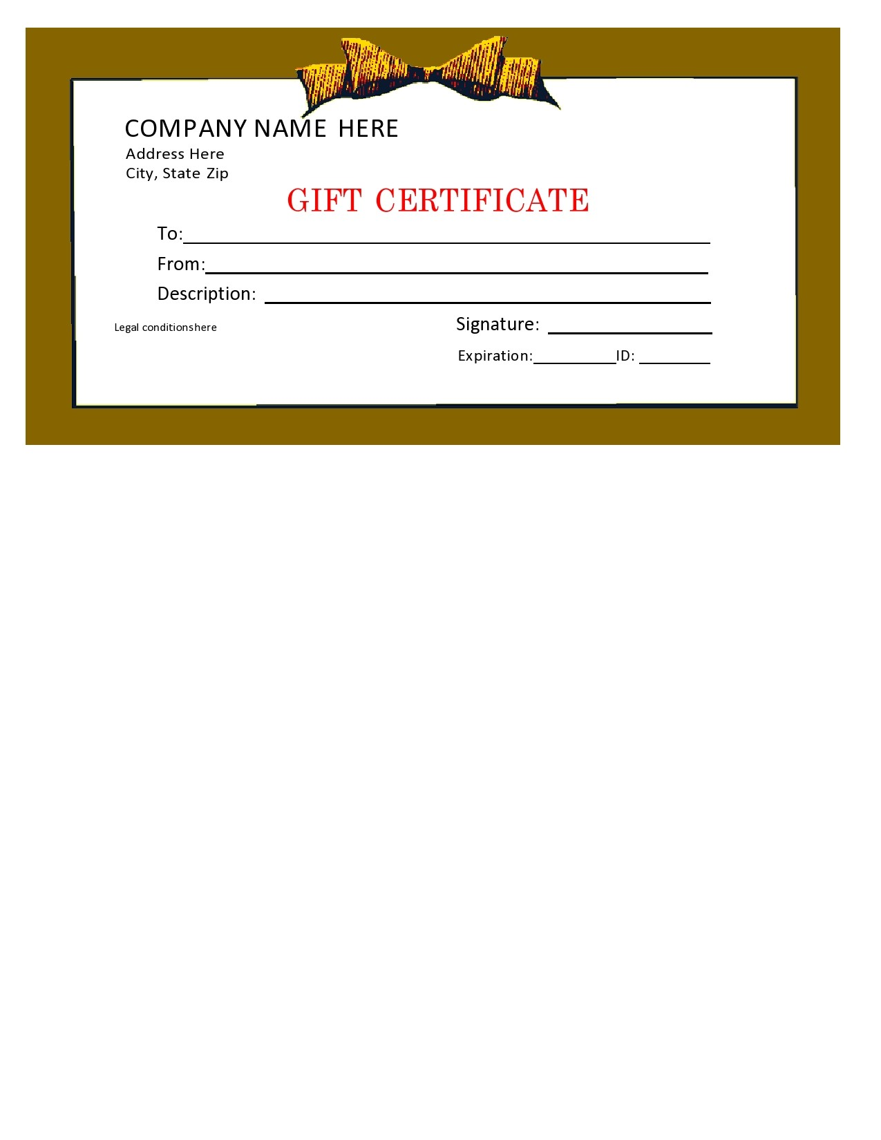 Free christmas gift certificate template 31