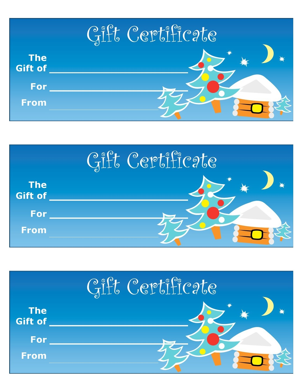 Free christmas gift certificate template 33