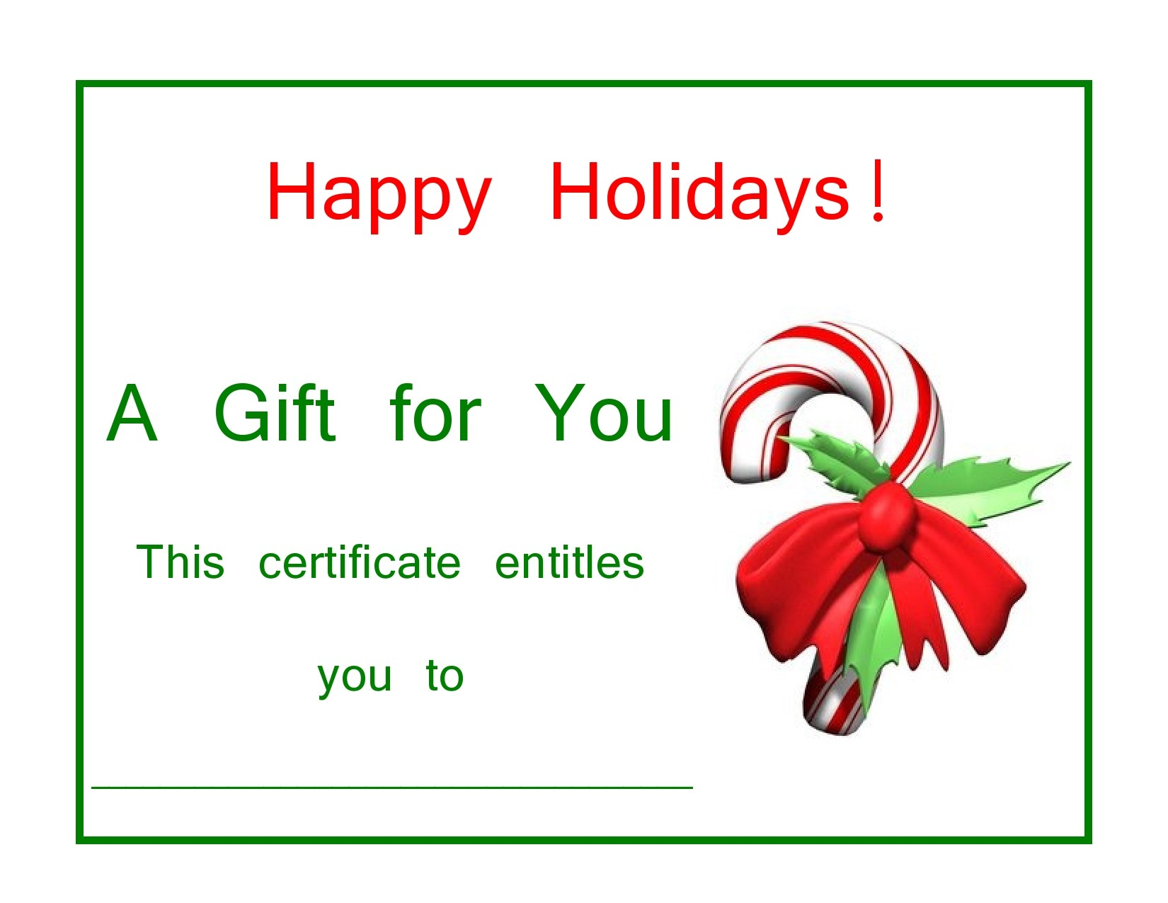 Free christmas gift certificate template 37