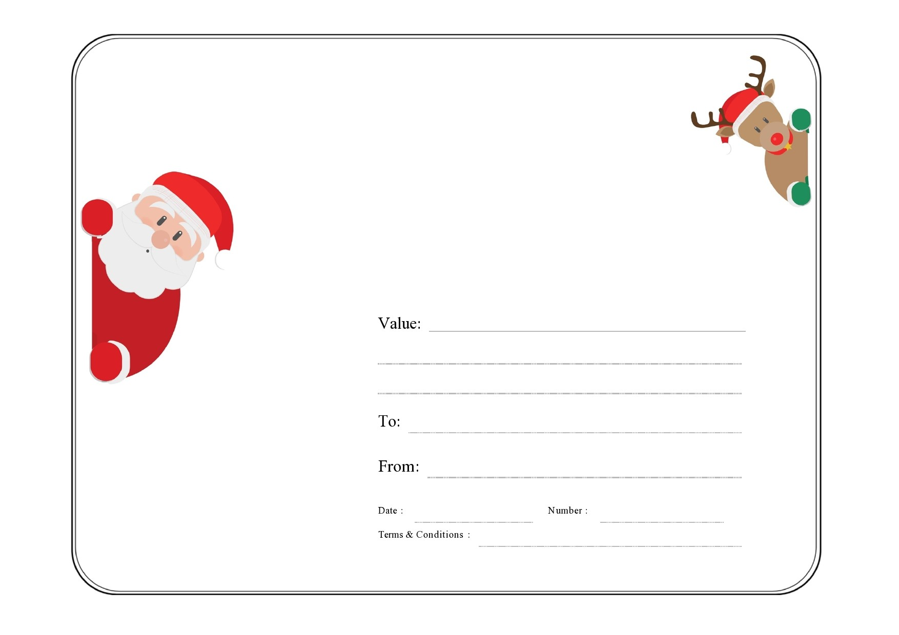 Free christmas gift certificate template 38
