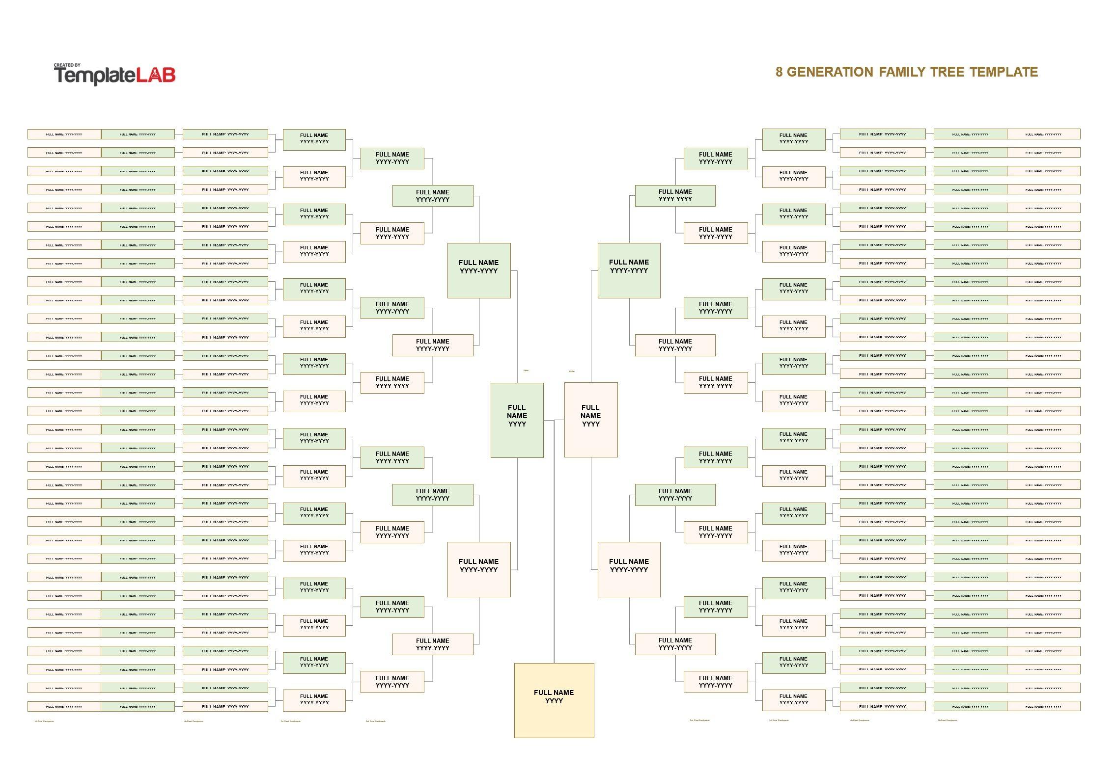 Free 8 Generation Family Tree