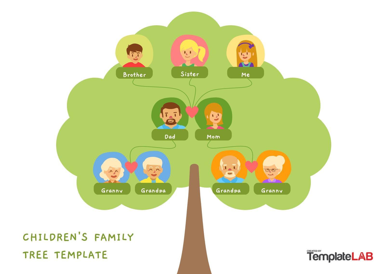 Free Children Family Tree Template