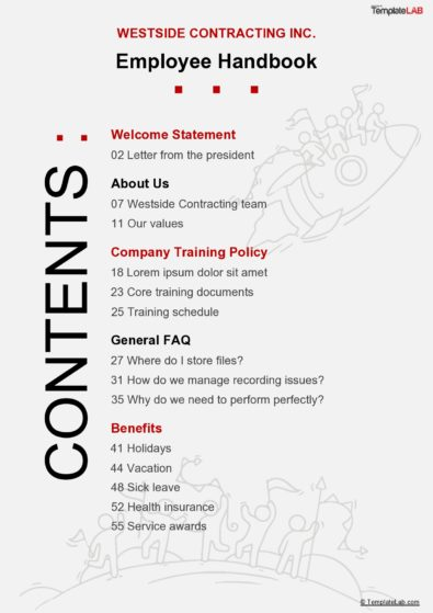 Table of Contents Templates