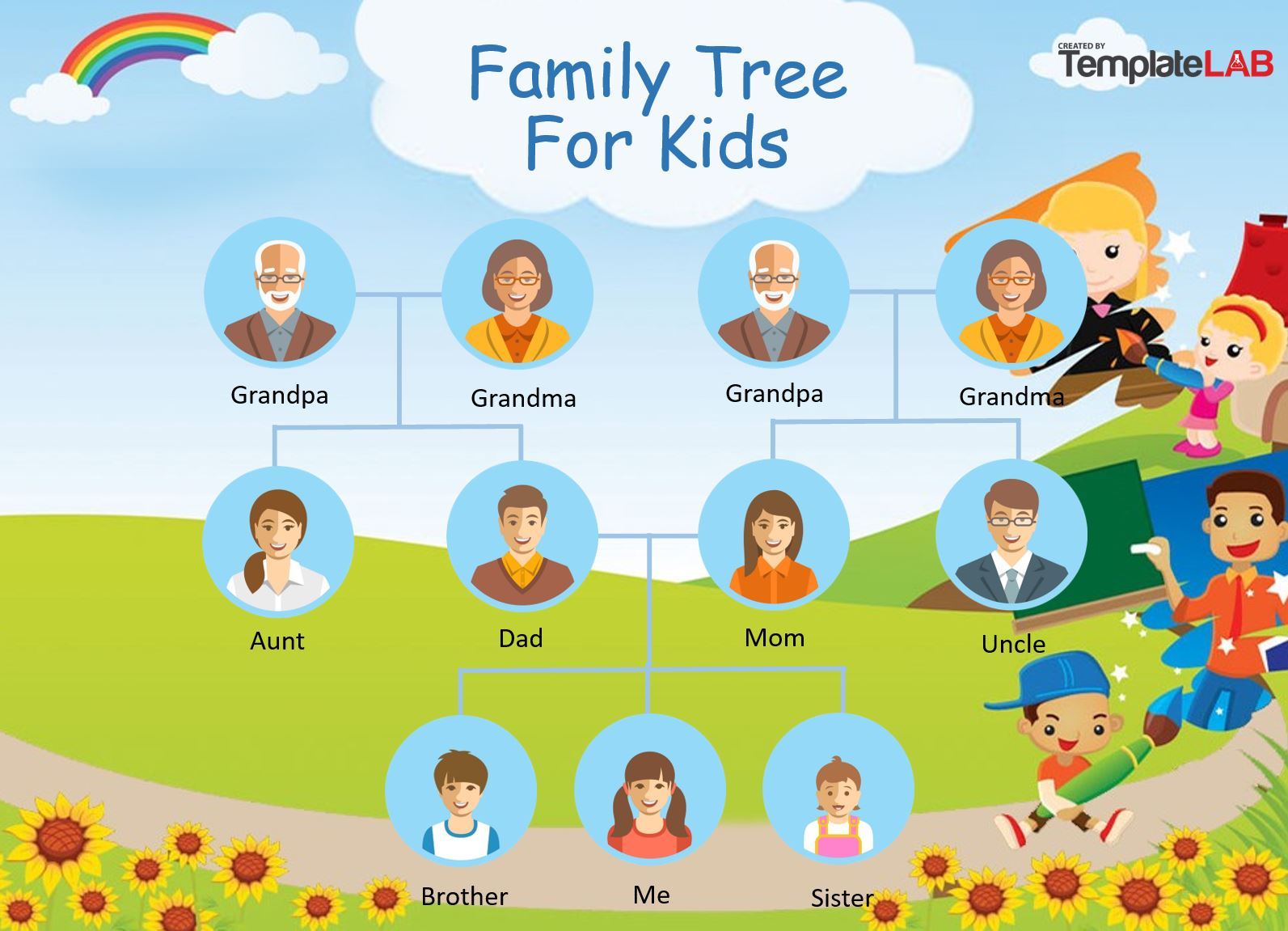 Free Family Tree Template for Kids