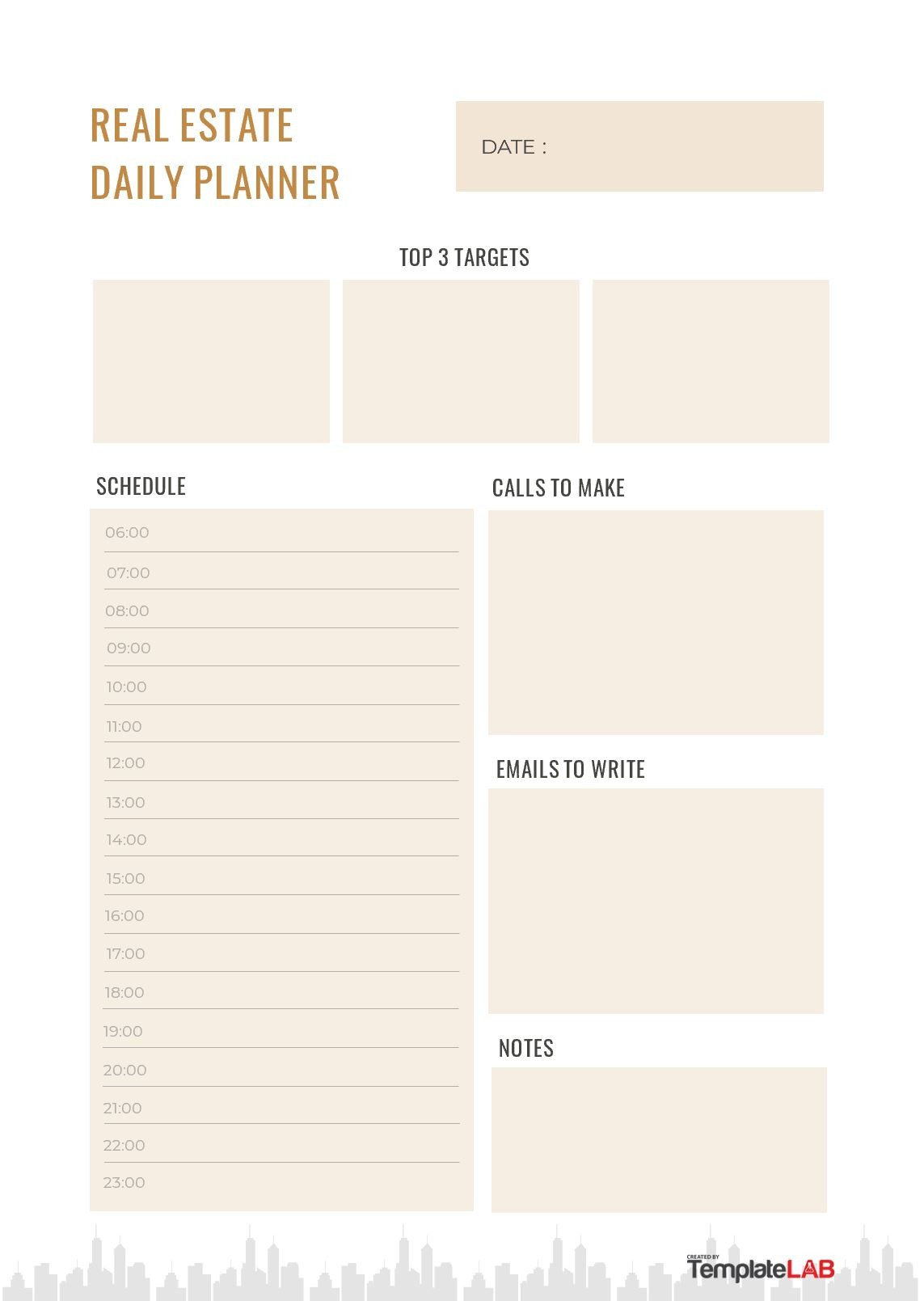 Free Real Estate Daily Planner