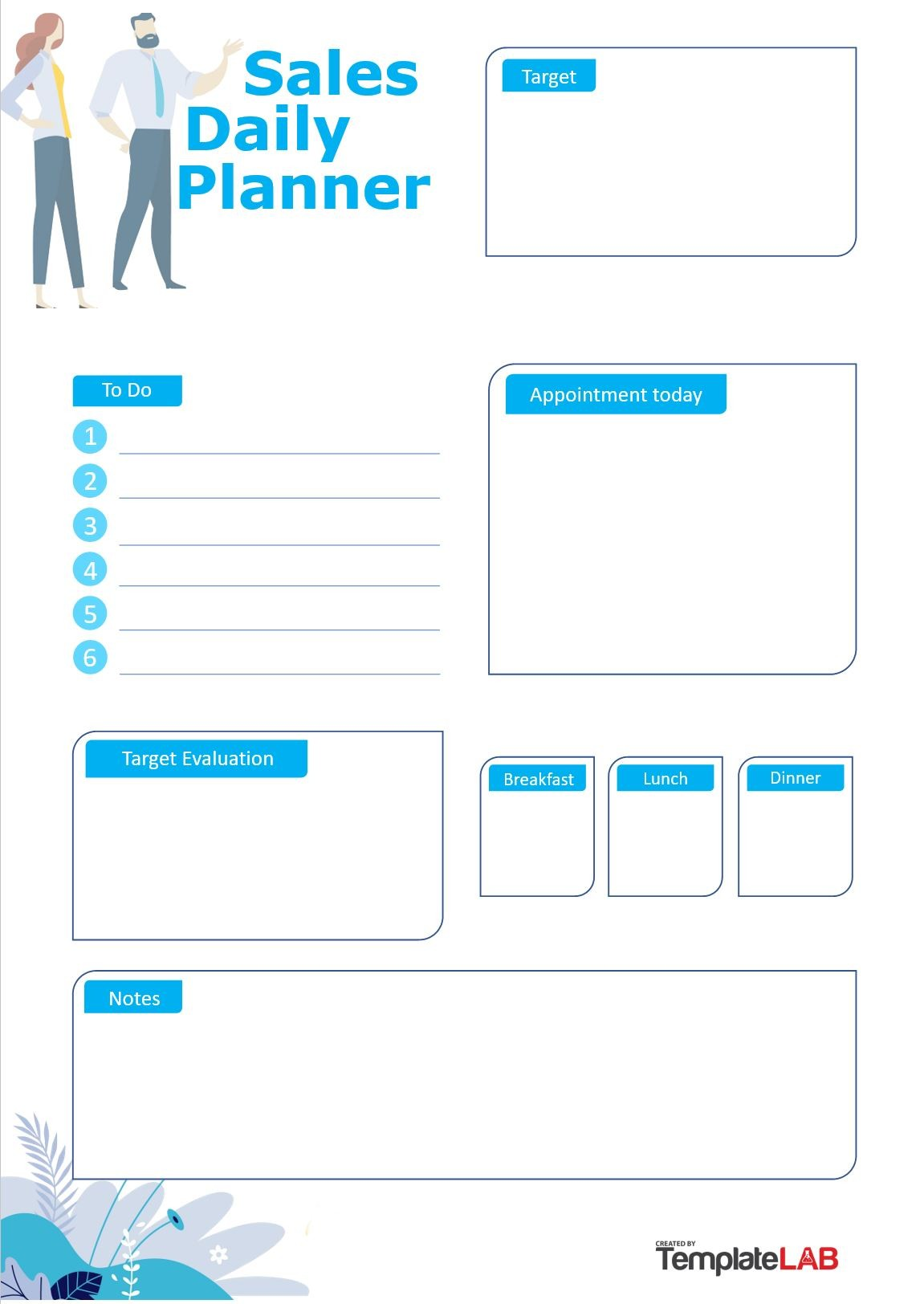 Free Sales Daily Planner