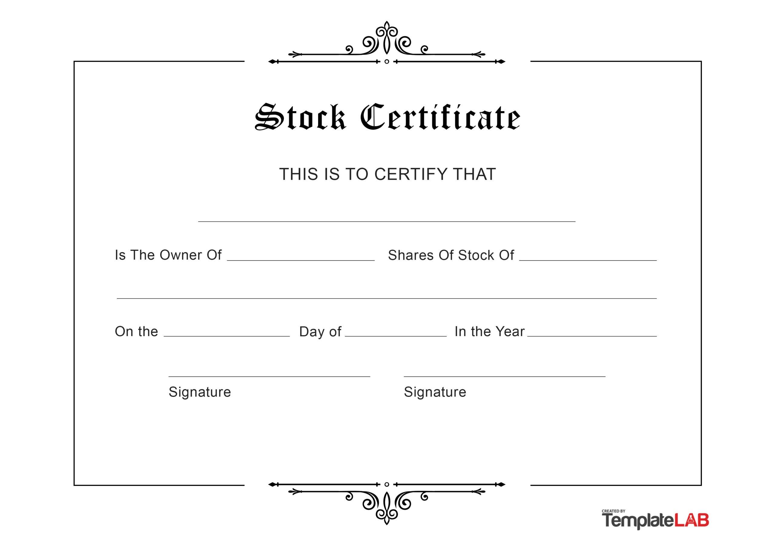Free Stock Certificate v2