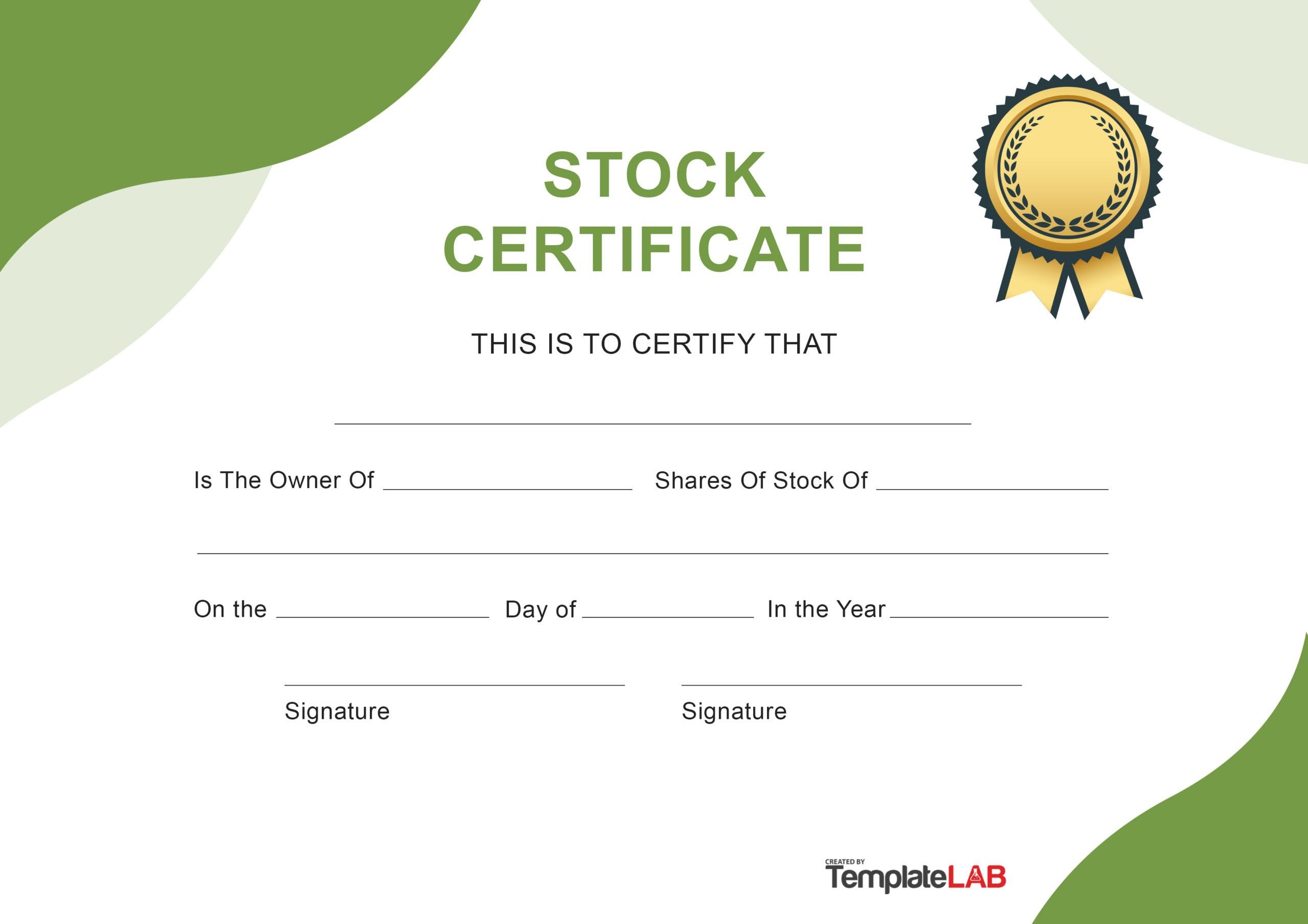 Free Stock Certificate v9