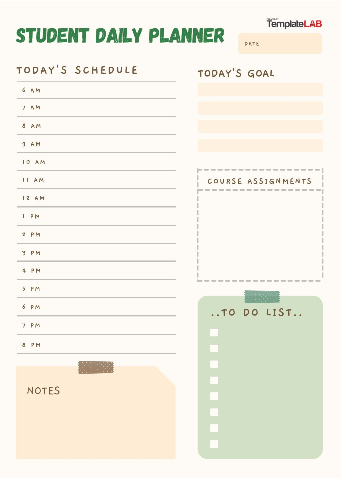 Free Student Daily Planner
