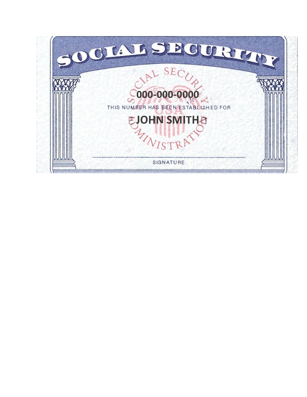 Free social security card template 02