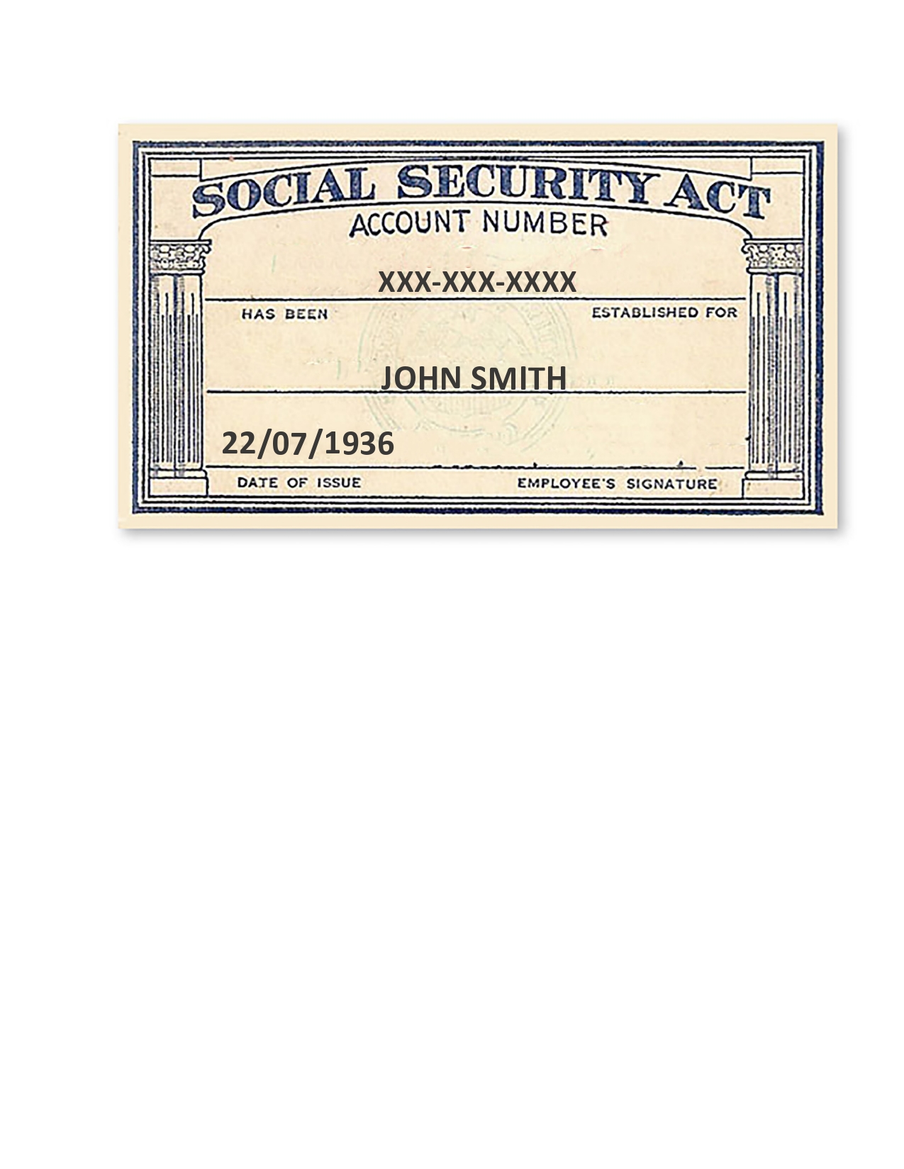 Free social security card template 06