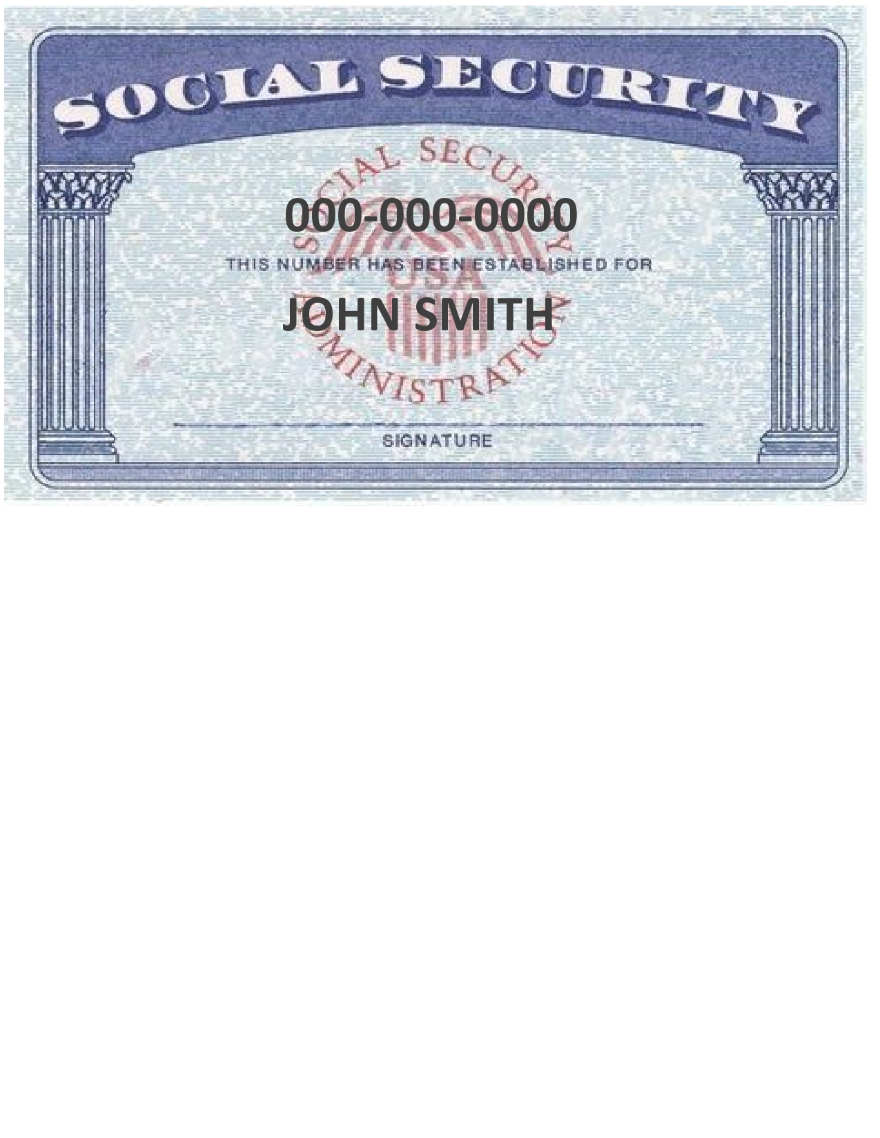 Free social security card template 09